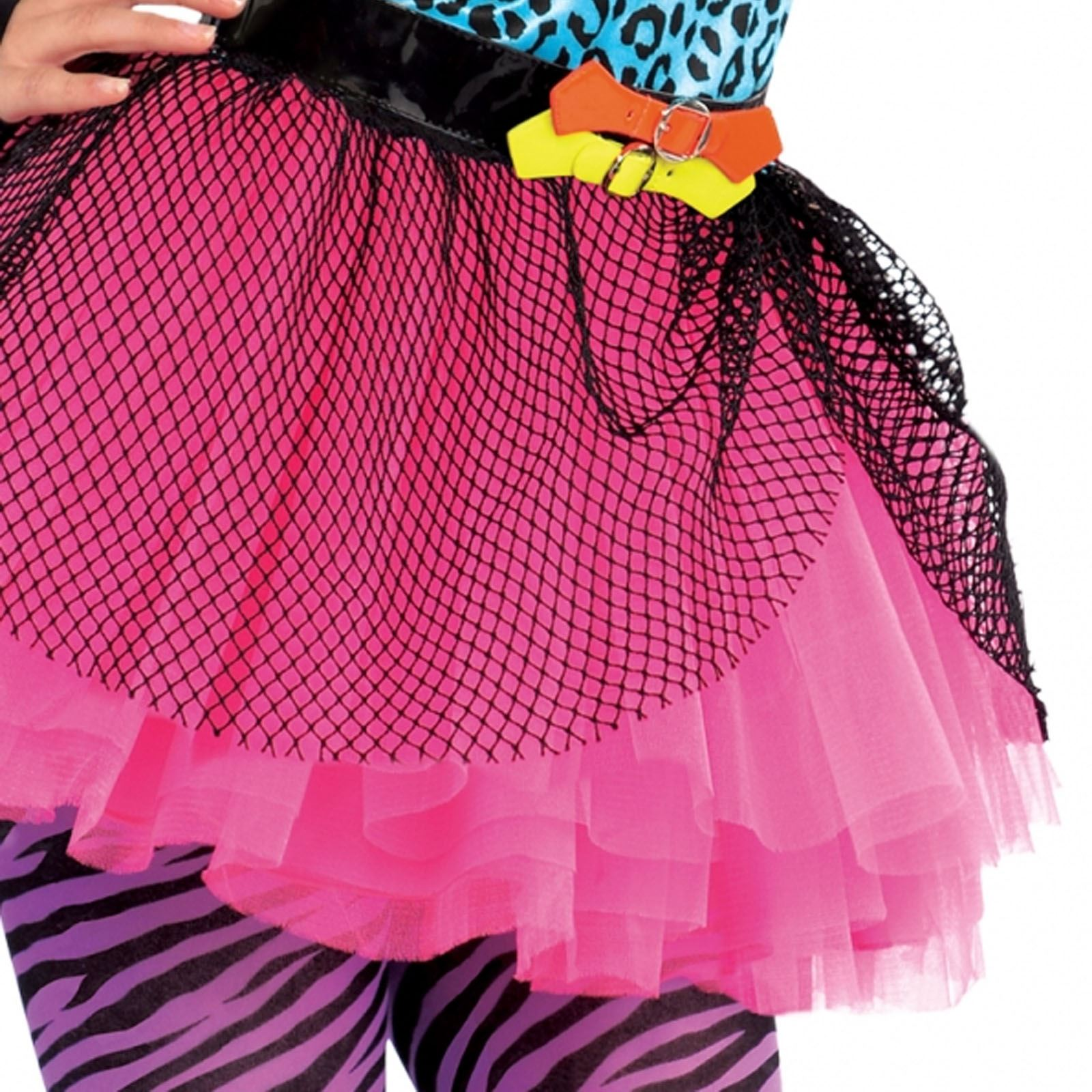 Neon Teen Party Retro 80s Colourful Girls Teens Fancy Dress Costume ...