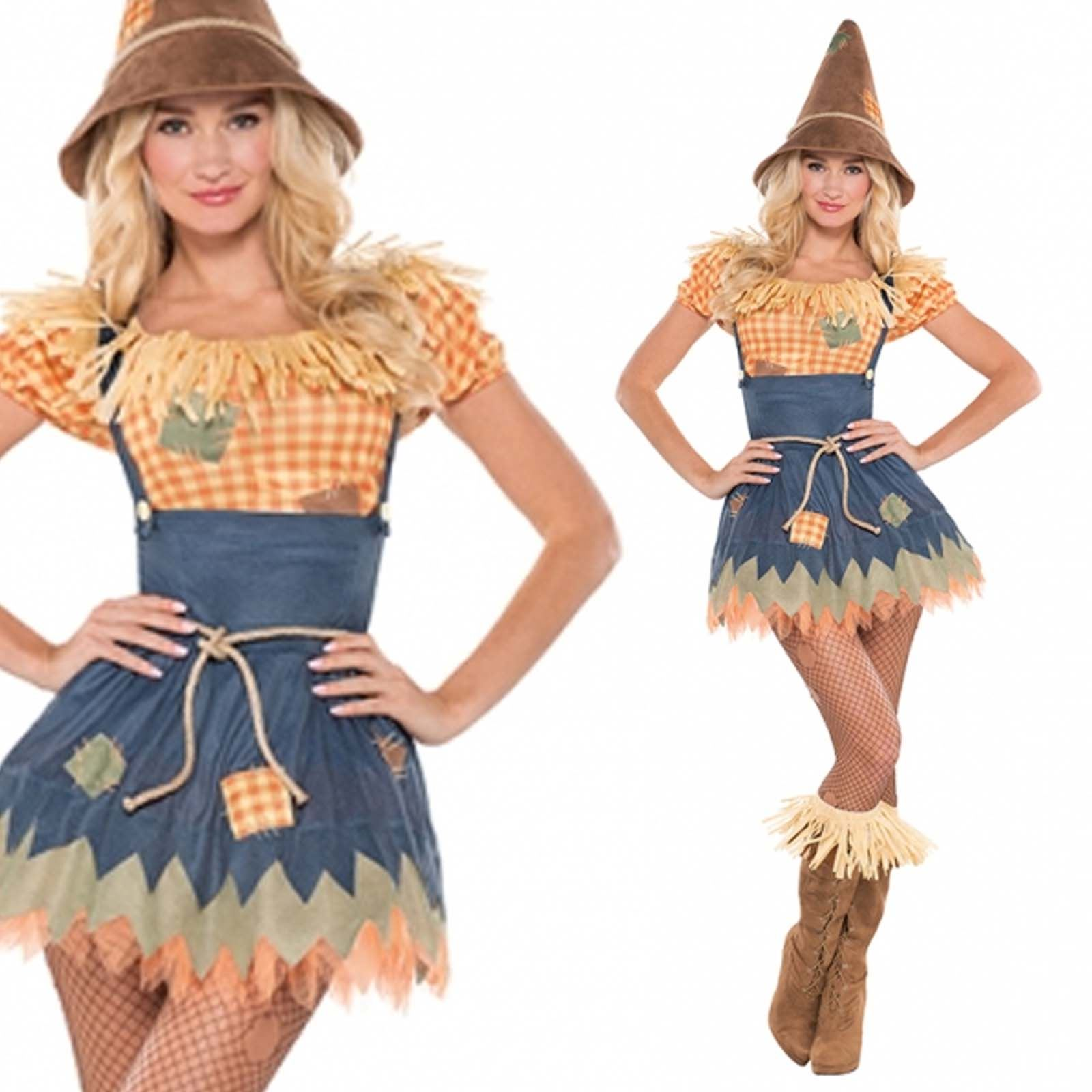 adult wizard sultry scarecrow costume sexy ladies fancy dress outfit new uk 8 16 ebay. Black Bedroom Furniture Sets. Home Design Ideas