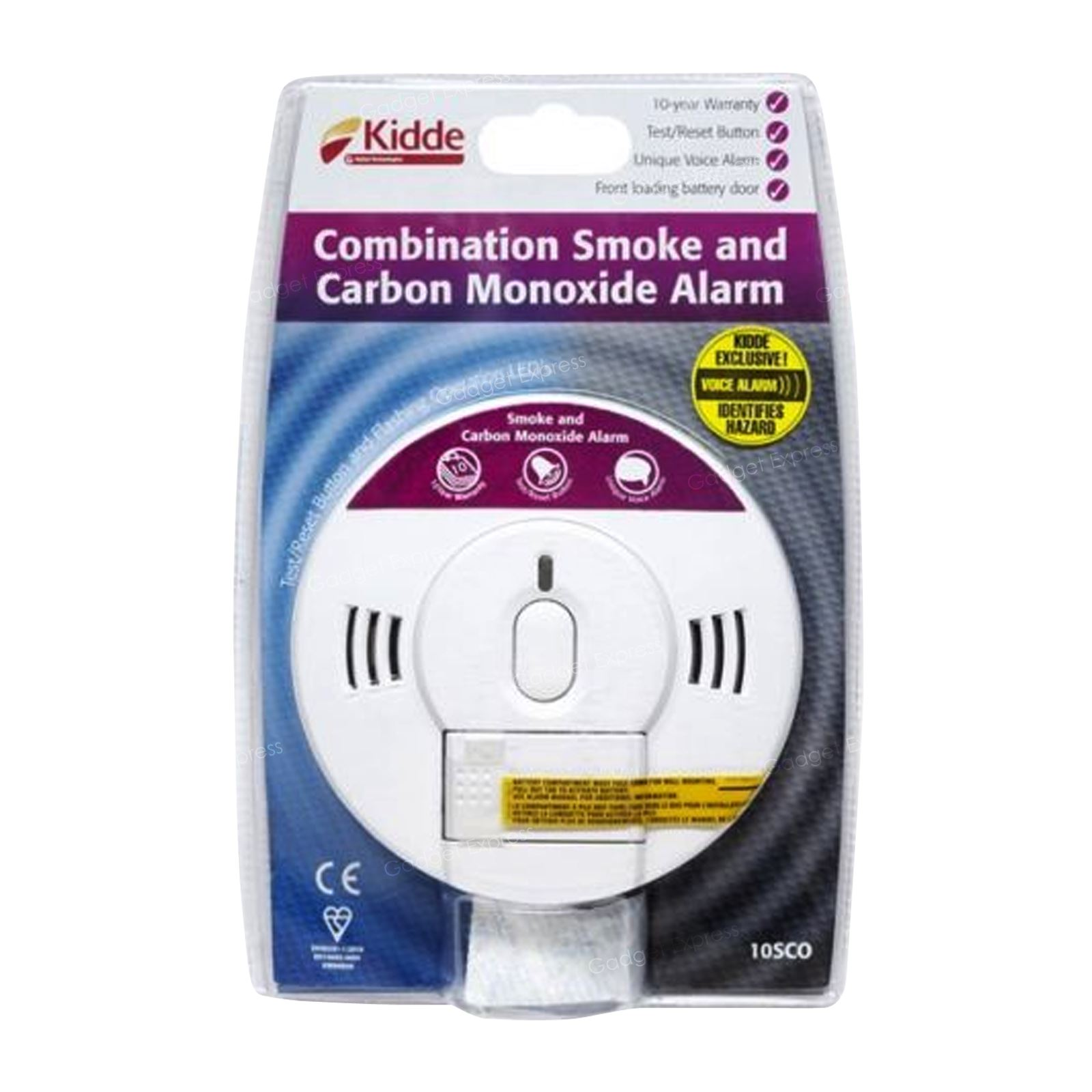 Kidde Smoke And Carbon Monoxide Combination Detector Voice