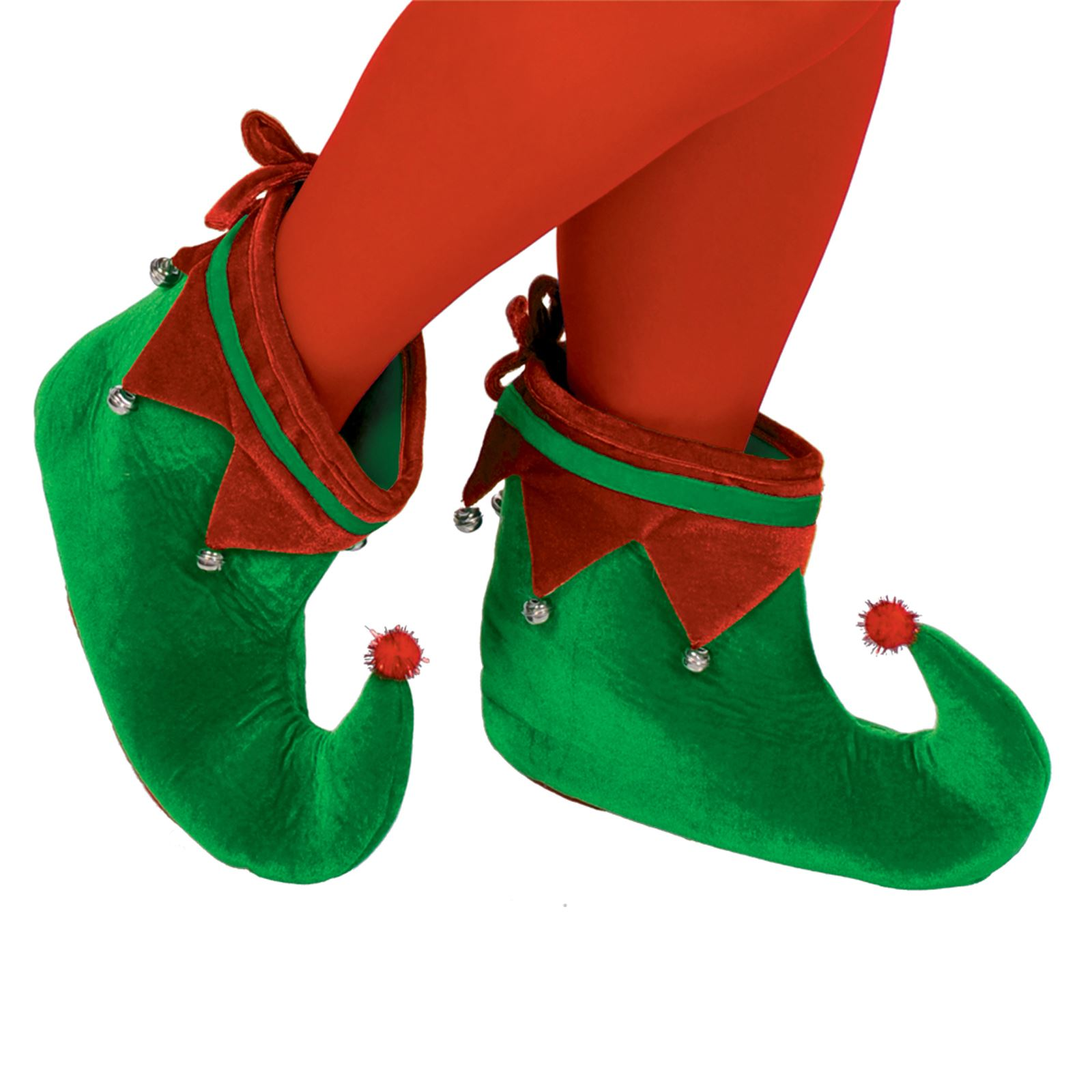 Adults Elf Shoes Mens Ladies Christmas Fancy Dress Jester Boot Cover Xmas Pixie