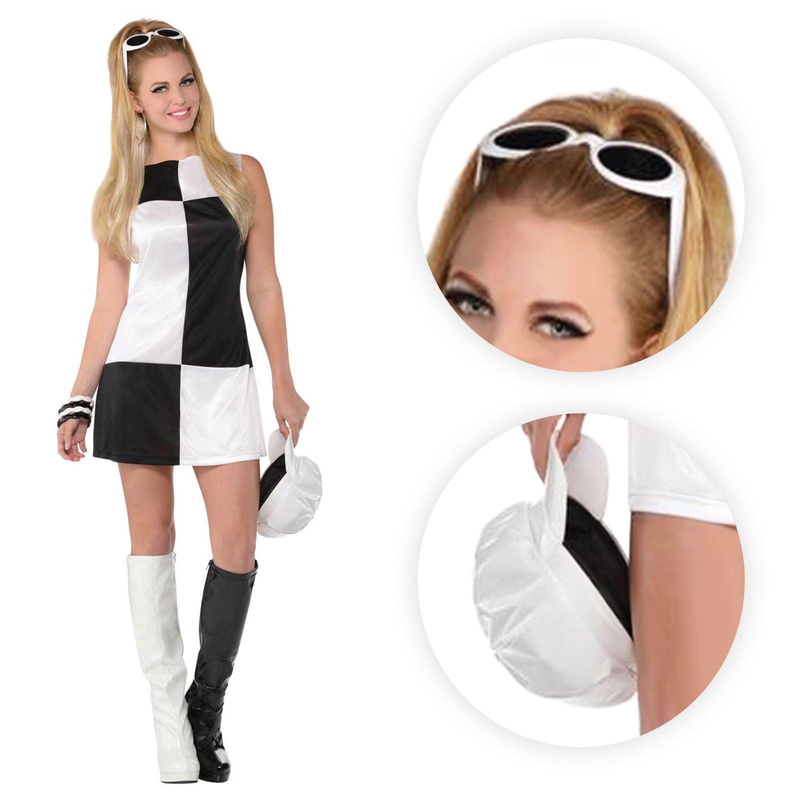 ladies swinging 60s 70s 80s mod girl black white retro. Black Bedroom Furniture Sets. Home Design Ideas