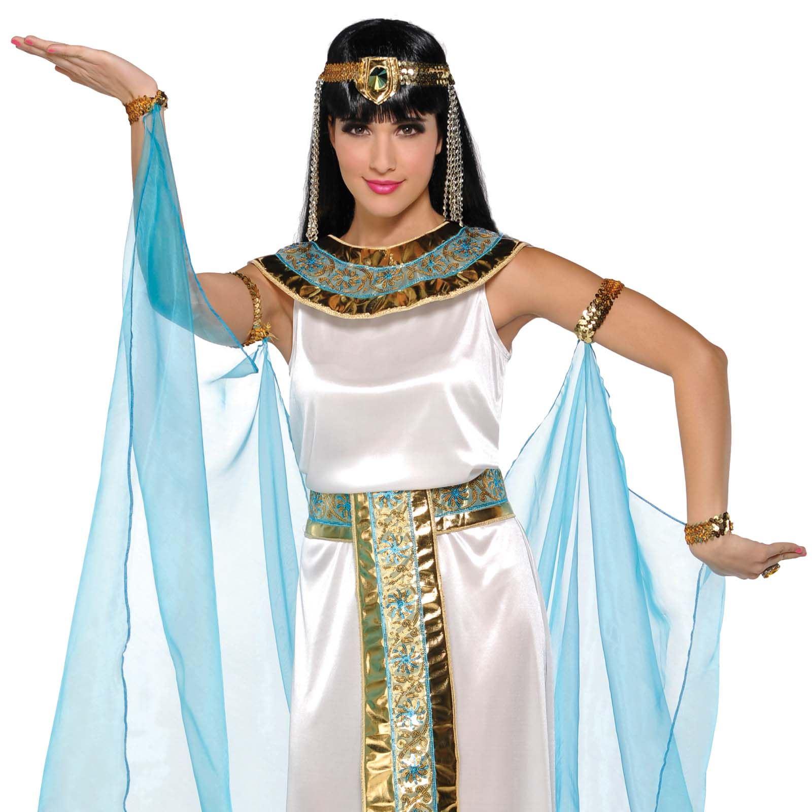 Ladies Egyptian Queen Cleopatra Roman Halloween Fancy ...