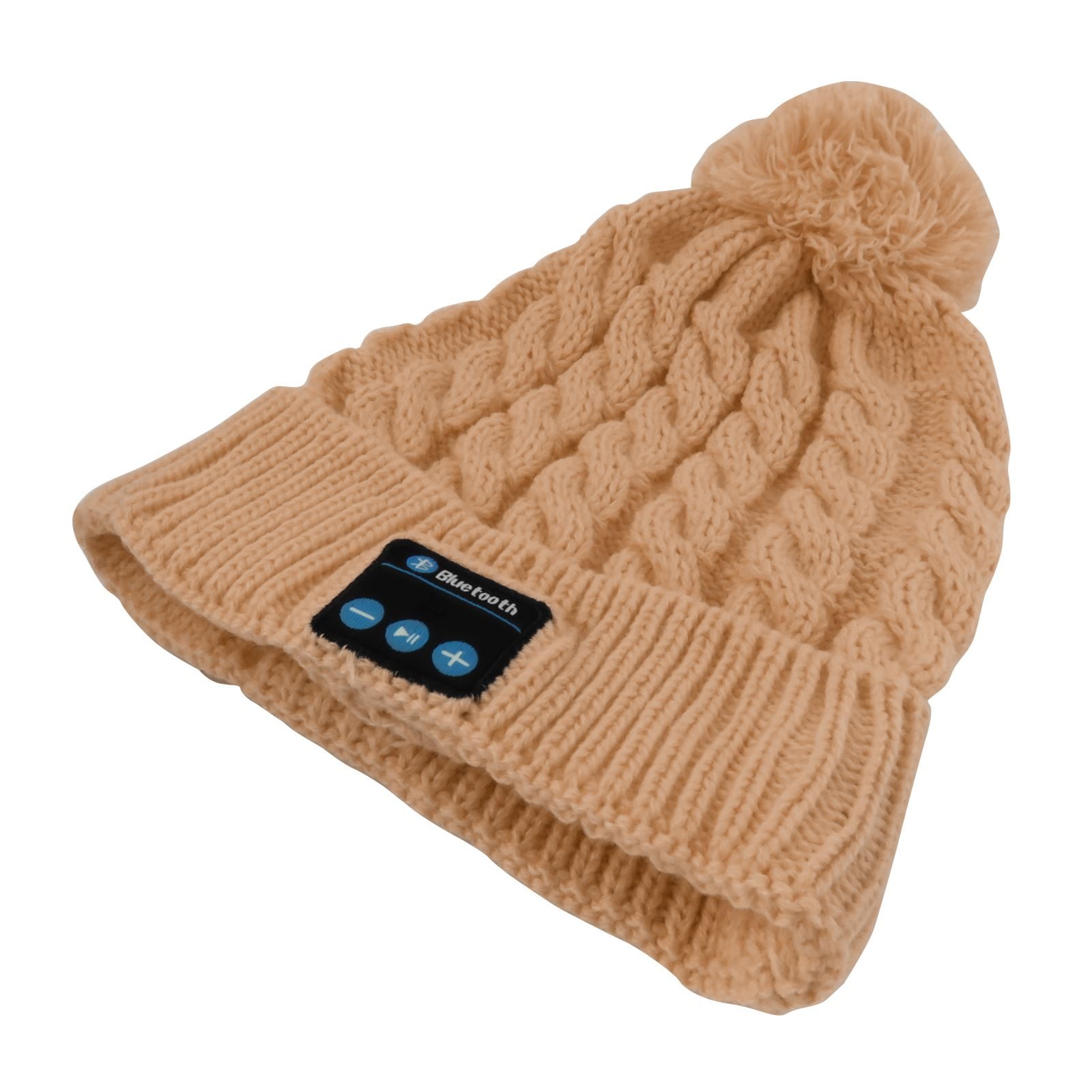 Wireless Bluetooth Beanie Bobble Hat Headphones Soft Warm Music for ... d9196c18bf0