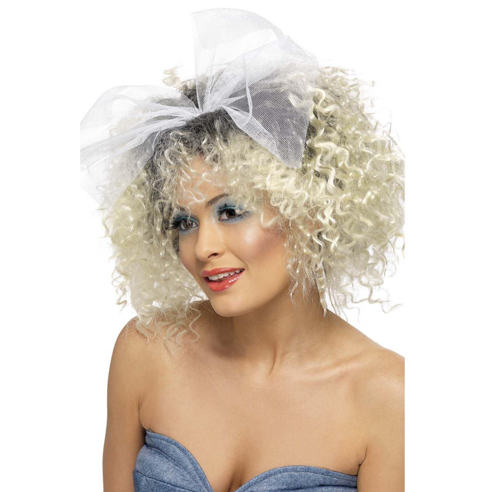 80s Jahre Wildes Kind blond gelockt 80s 90s Pop Star Perücke mit ...