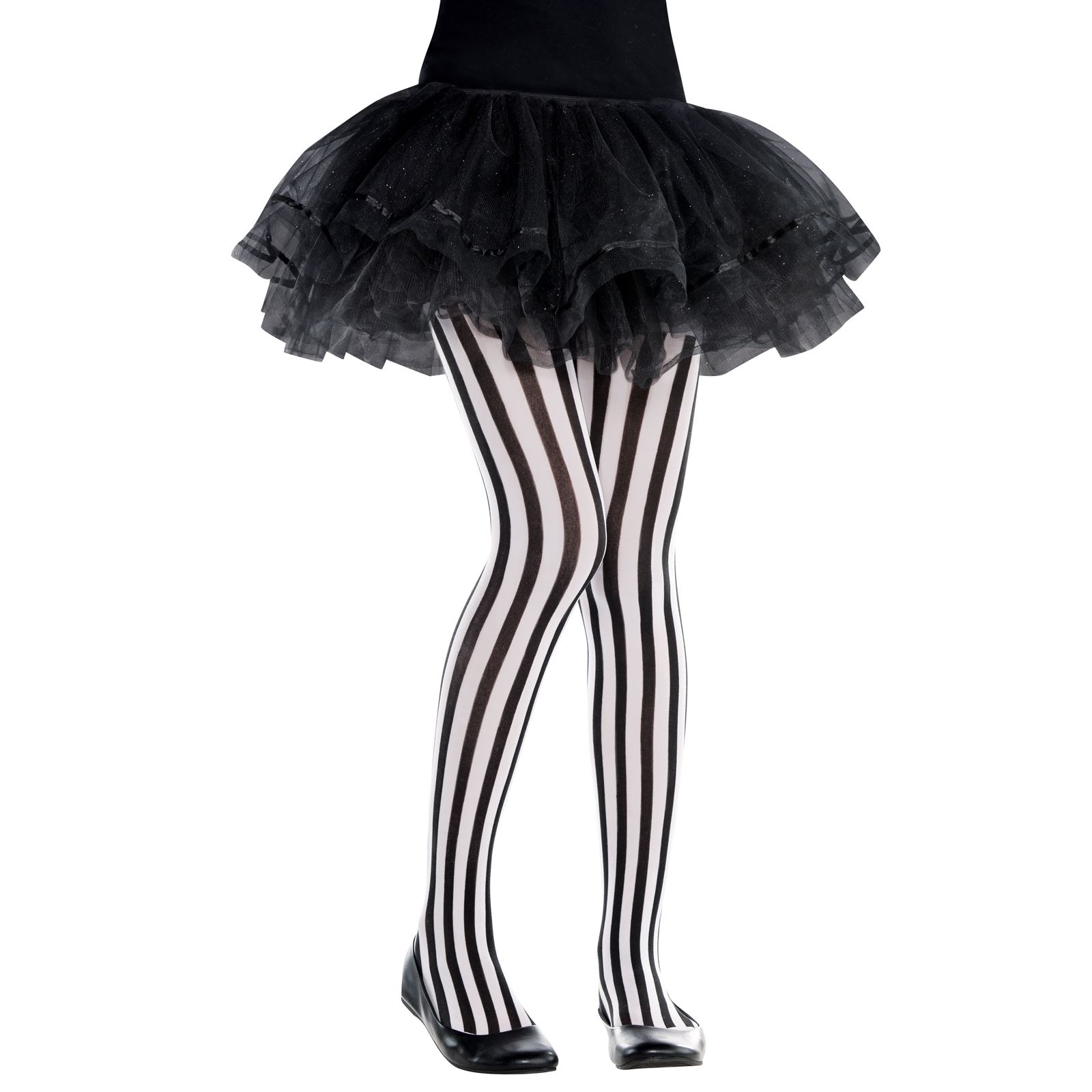 240f614afd5c Girls Vertical Striped Tights 6-8 Years Black White Halloween Party ...