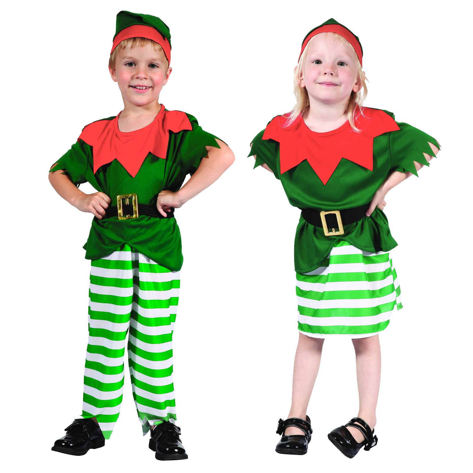 b599f3bed88f 2-3 Years Toddler's Boys Girls Santa Elf Christmas Party Fancy Dress ...