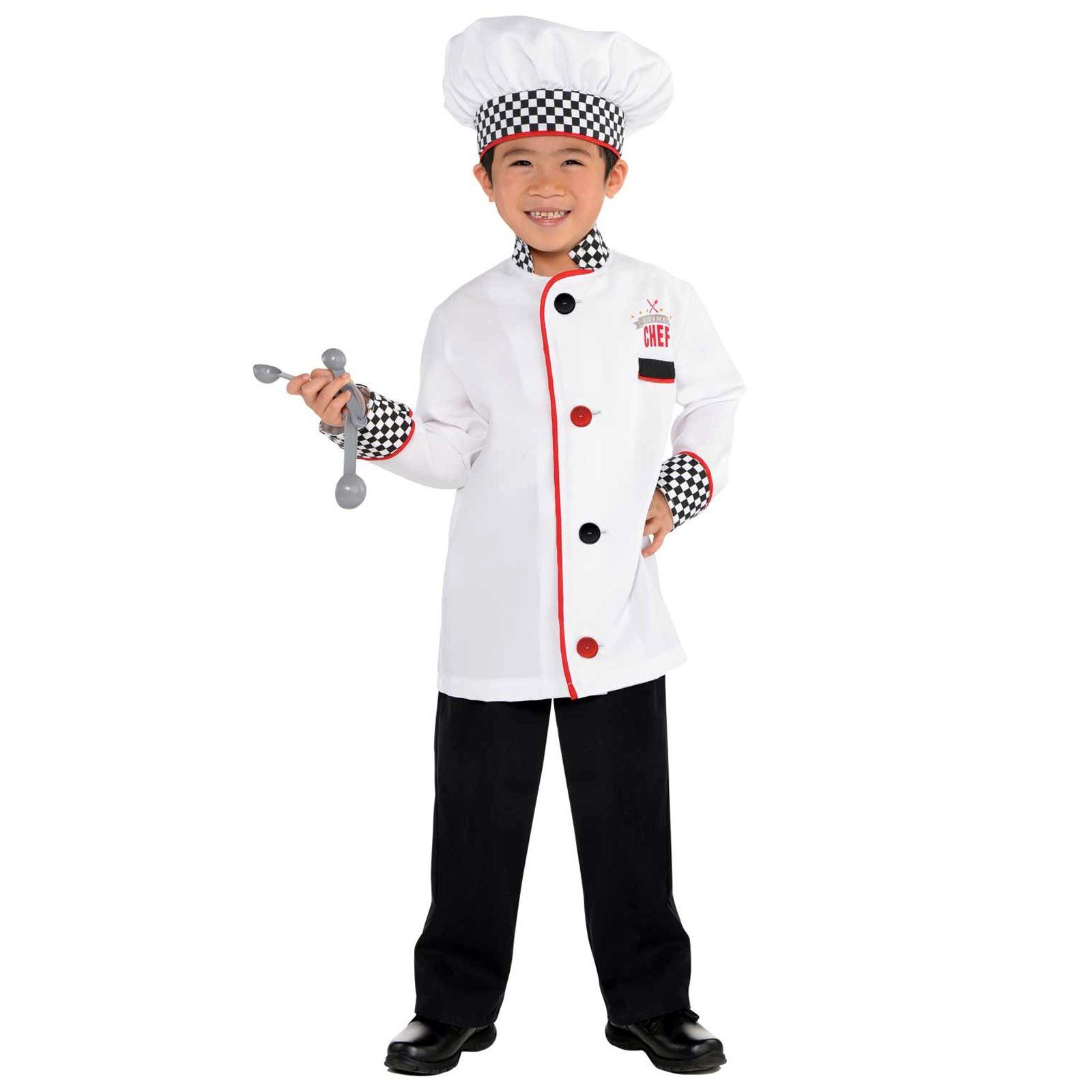 Bambini Ragazzi Master Chef Cuoco Uniforme Costume Travestimento ... aad689b8de69