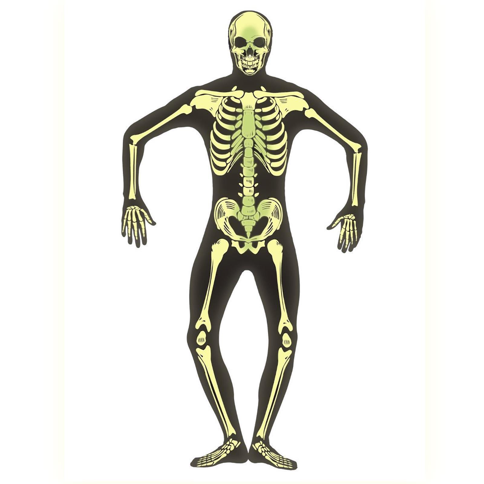 "US Seller 16/"" Glow in the Dark Skeleton Halloween Decoration"