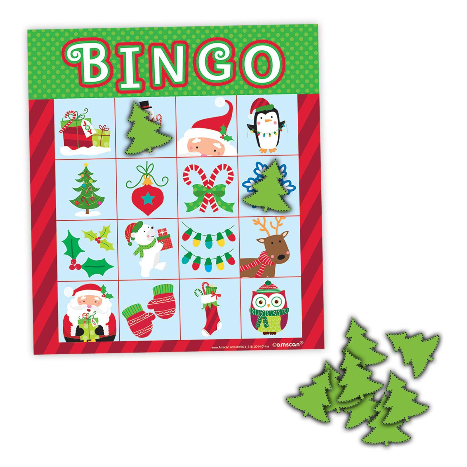weihnachten bingo karte party spiel kinder familie 16. Black Bedroom Furniture Sets. Home Design Ideas
