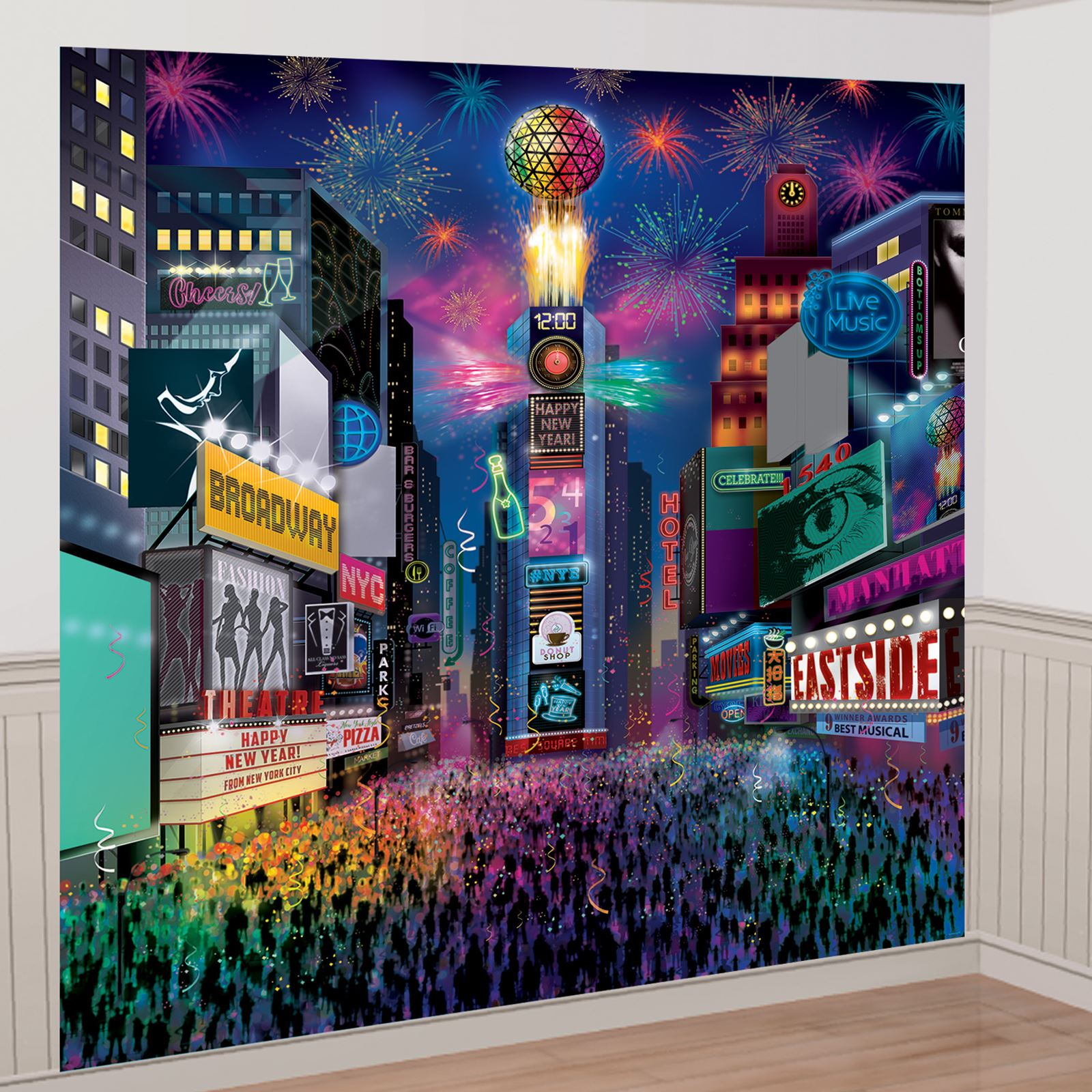 new york times square happy new year wall decoration