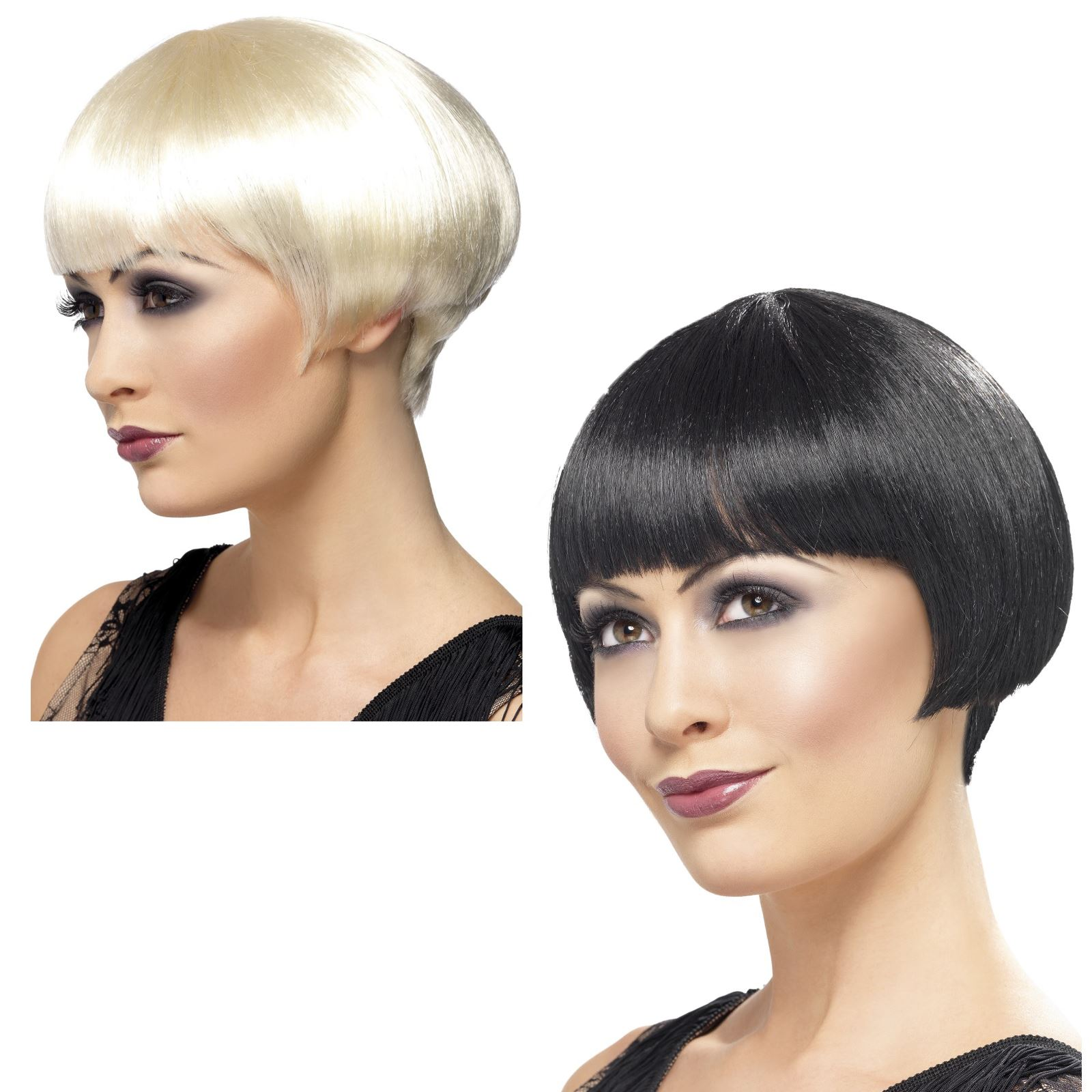 donne adulti RUGGENTI 1920s stile Charleston Bob Wig Vestito da ... 8edb4ac16d7