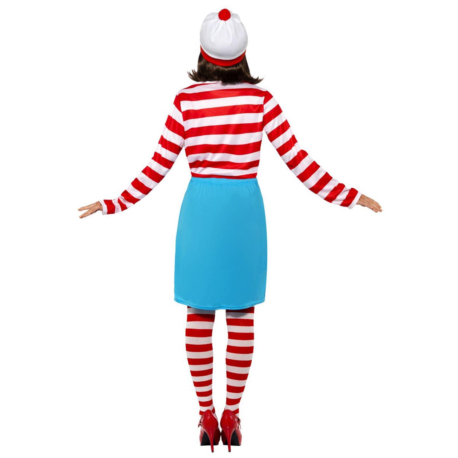 Rossa e Bianca a Righe Top Con Cappello Wally Wenda Costume-Piccolo