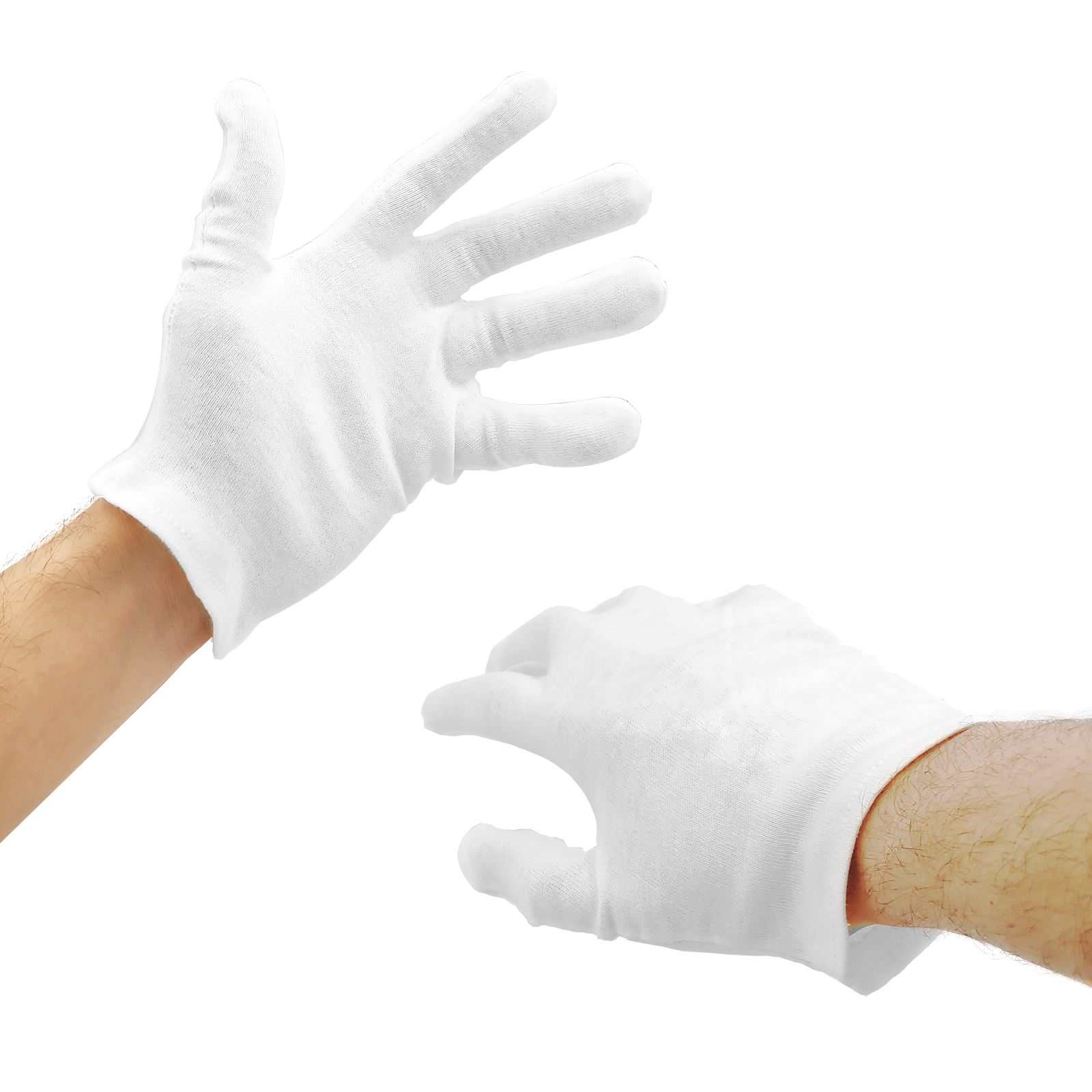 Childrens Adults White Gloves Showman Magician Masquerade Butler Accessory New