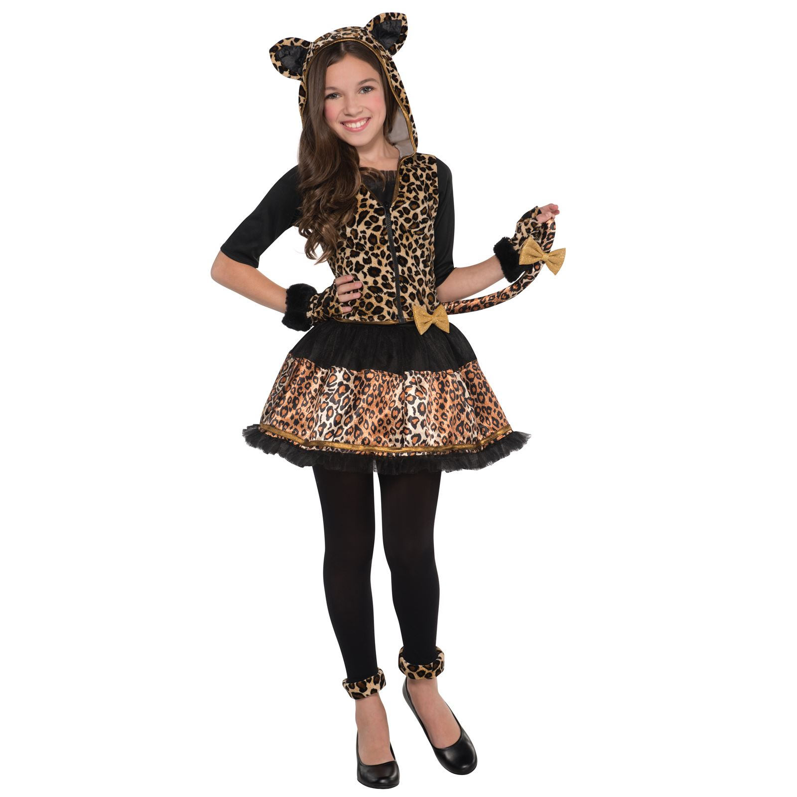 kids sassy spots leopard jungle big cat wild fancy dress girls
