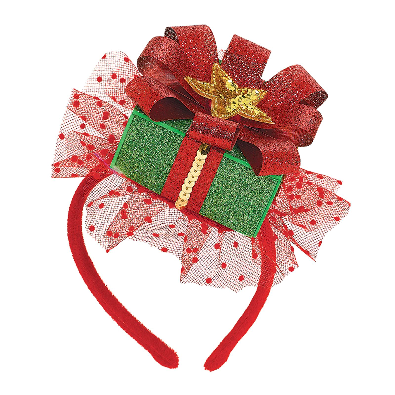 Deluxe Christmas Glitter Fascinator Cute Party Hat