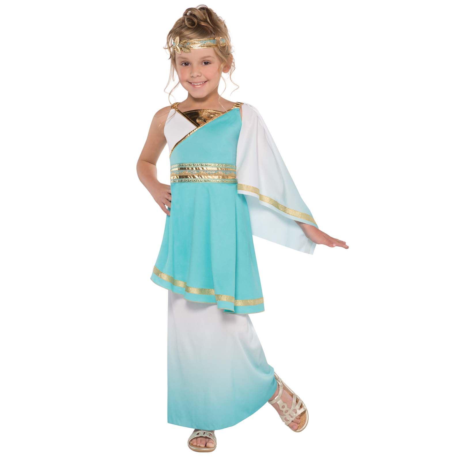 Girls Venus Roman Greek Goddess Athena Toga Fancy Dress Costume Book ...