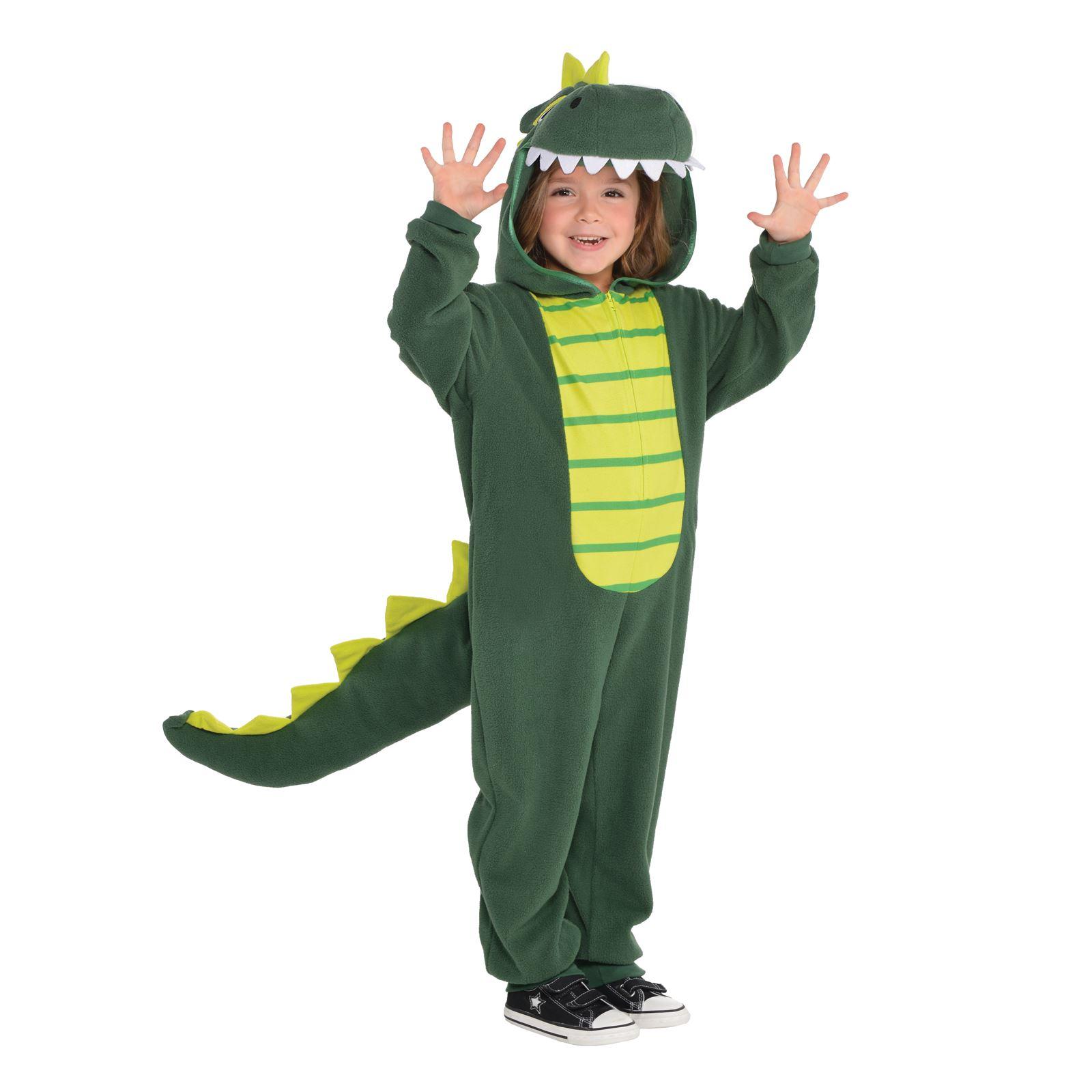 Child Dinosaur Costume T Rex Boys Girls Kids Book Week Day Fancy Dress Age 3-10