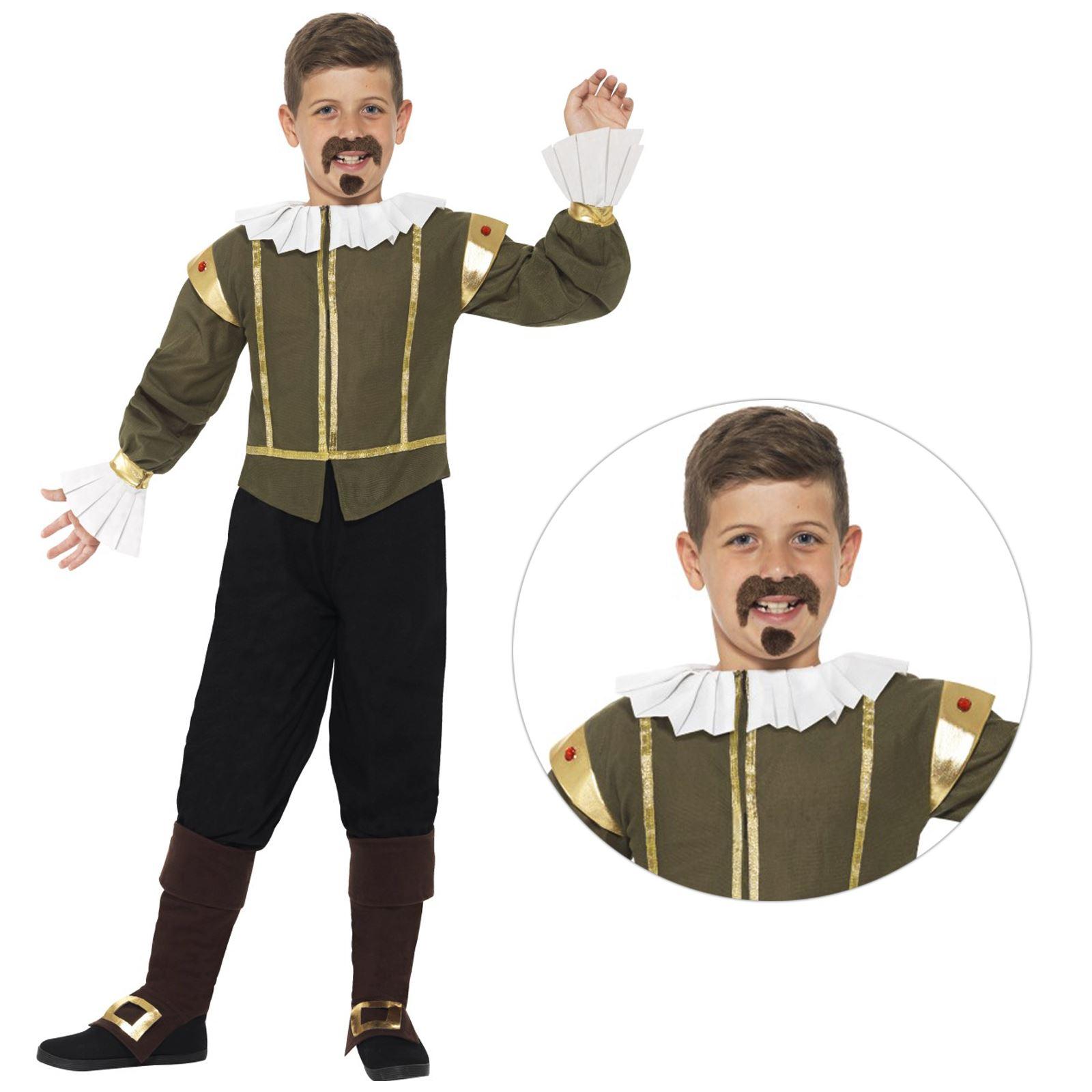Bambini-Ragazzi-STORICO-POETA-William-Shakespeare-Costume-Libro-Settimana-Giorno-Costume