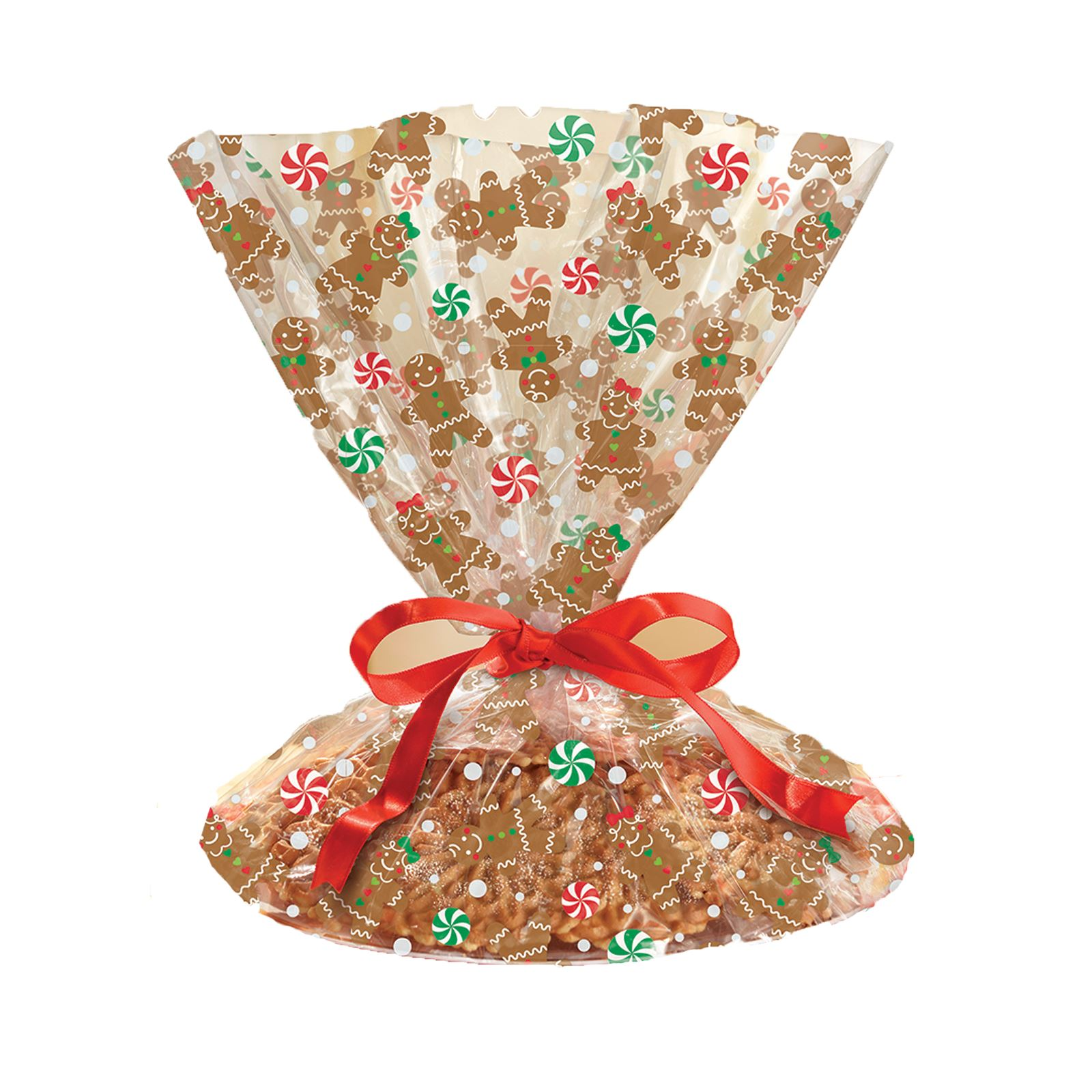 BISCUIT COOKIE GIFT LOOT TREAT 5 Red//5 Green 10 CHRISTMAS PAPER PARTY BAGS