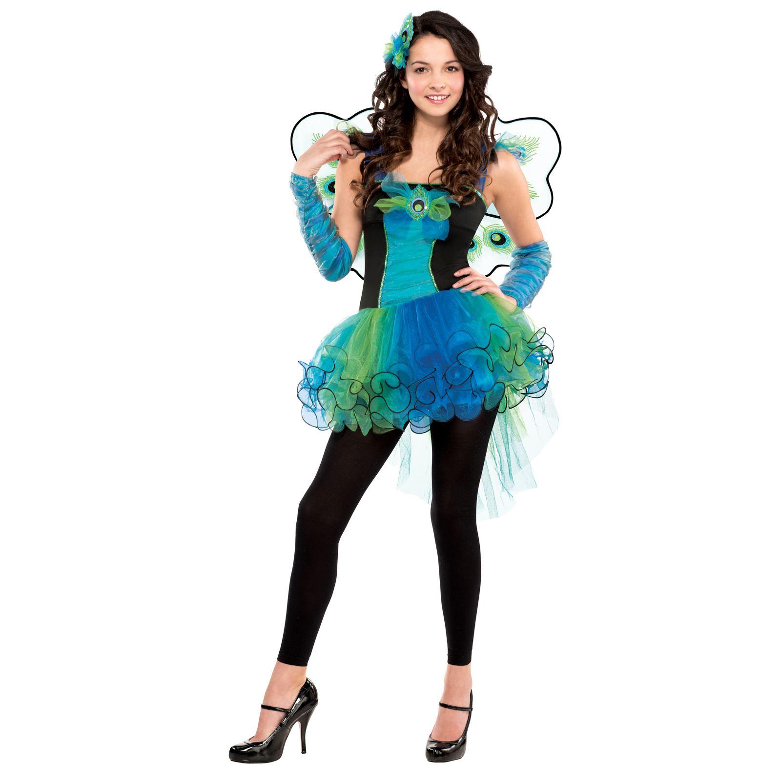 teen girls fairtyale carnival peacock dress costume monster ever