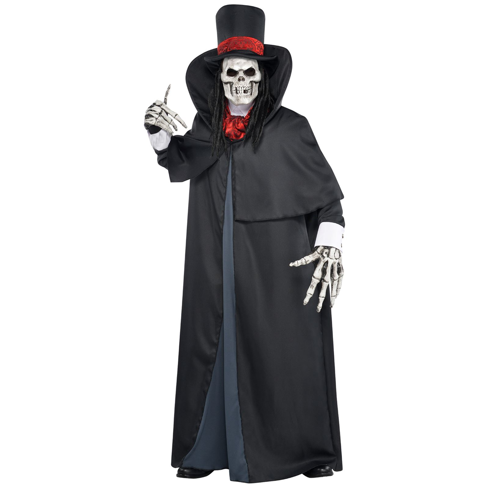 02ea1f7387 Dapper Death Grim Reaper Skeleton Adult Teens Halloween Fancy Dress ...