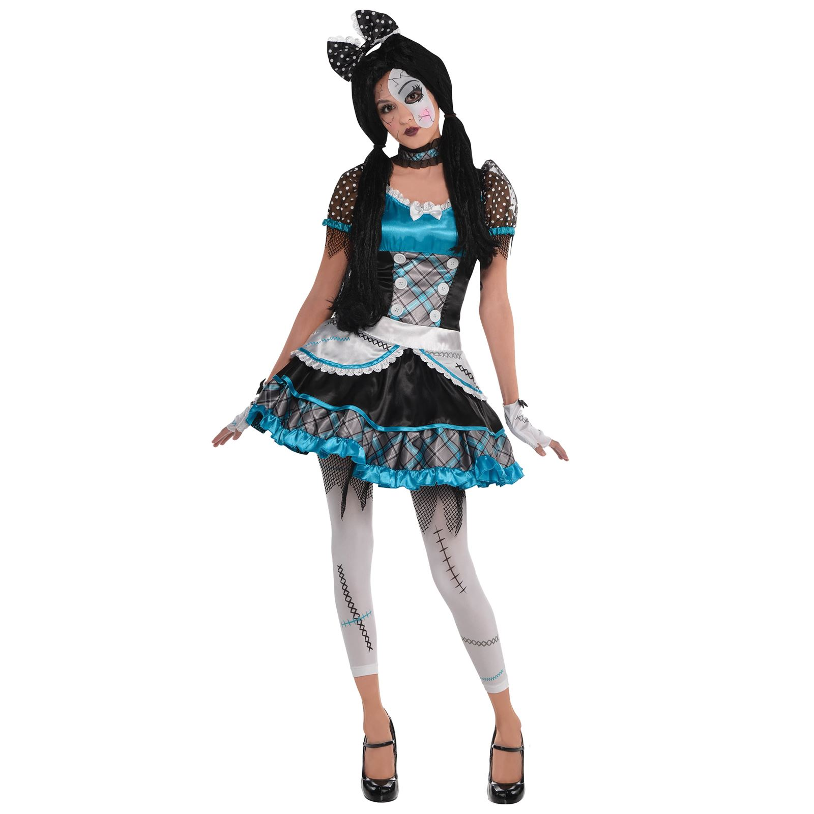 teen girls shattered doll halloween costume broken bell zombie anna
