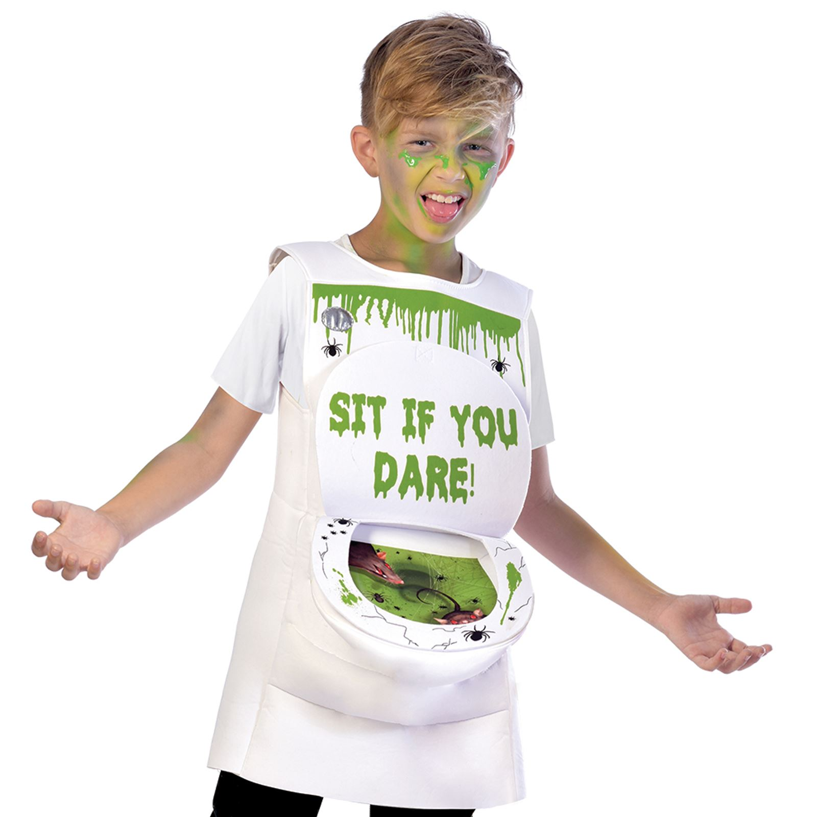 Bambini Ragazzi Ragazze Novità viscido igienica Loo Sewer Ratto Slime Costume Di Halloween