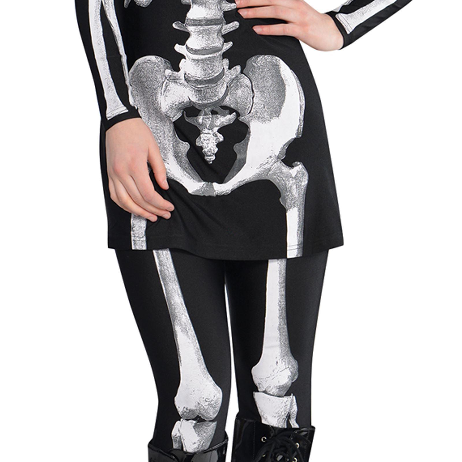 b0f324f4f2155 Adult Ladies Sexy Skeleton Bare Bones Gothic Halloween Costume Dress ...