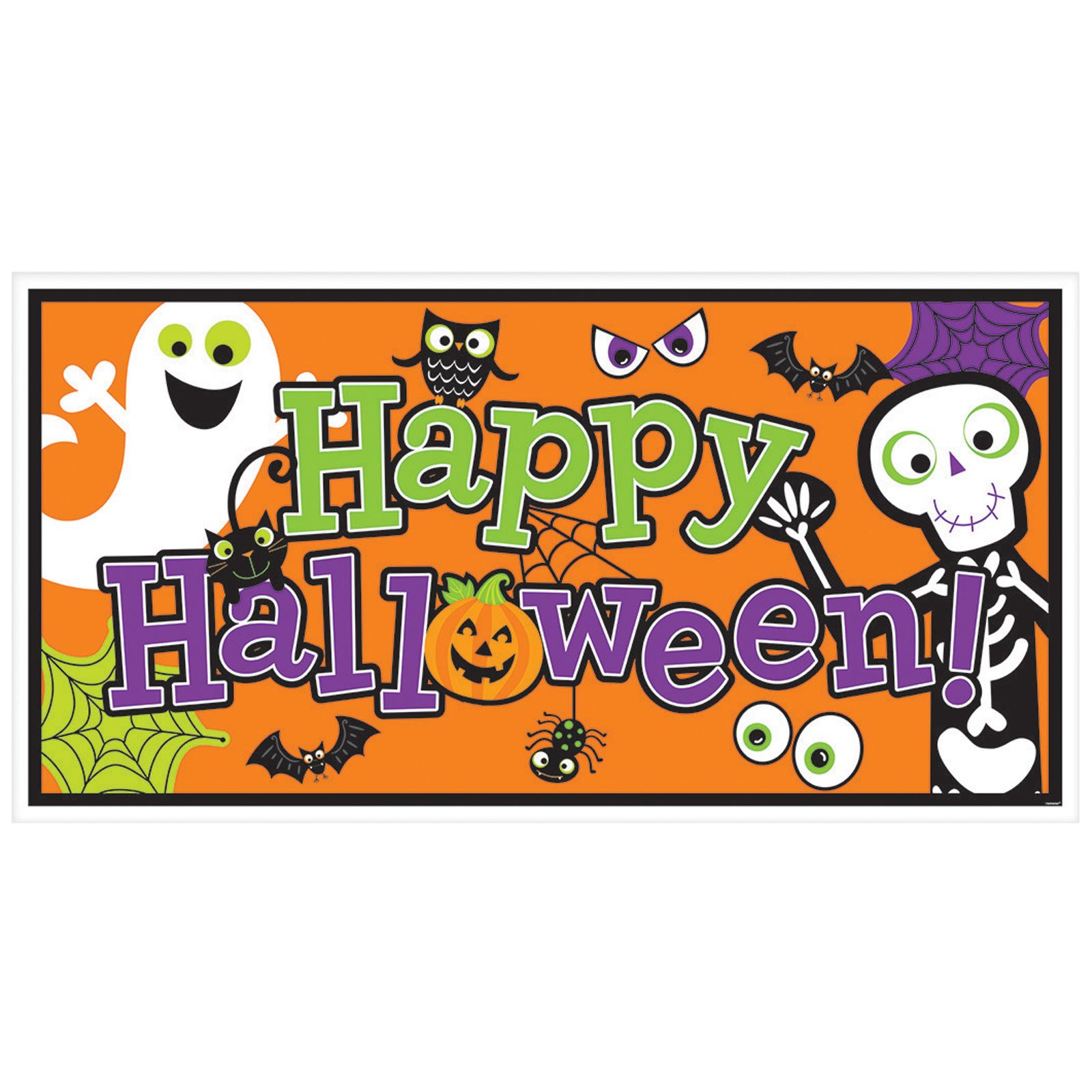 It is a picture of Bewitching Happy Halloween Banner Printable