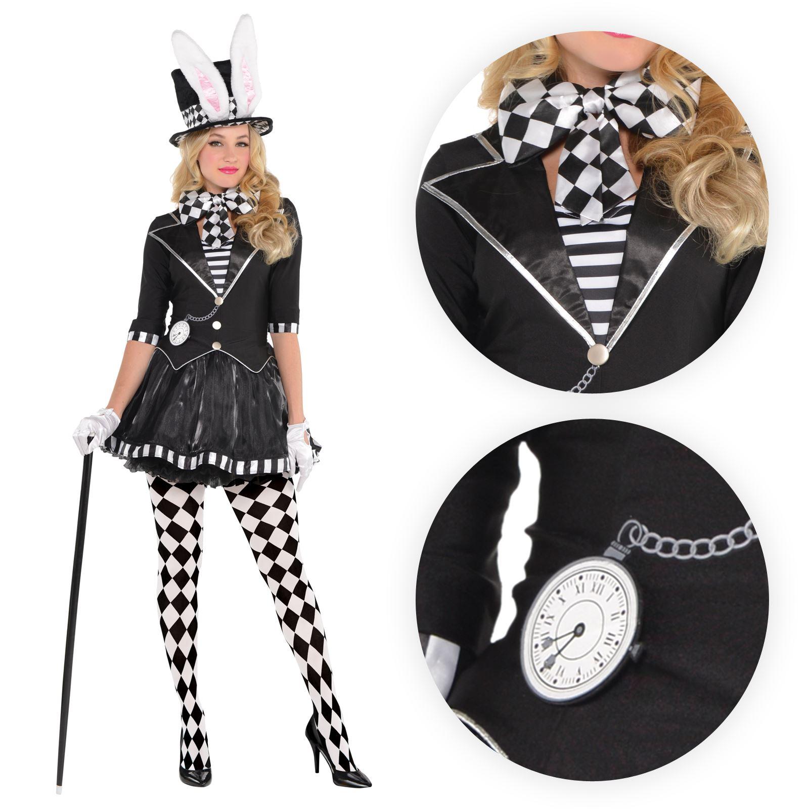 Deluxe Dark Mad Hatter Costume Alice Storybook /& Fairytale Fancy Dress