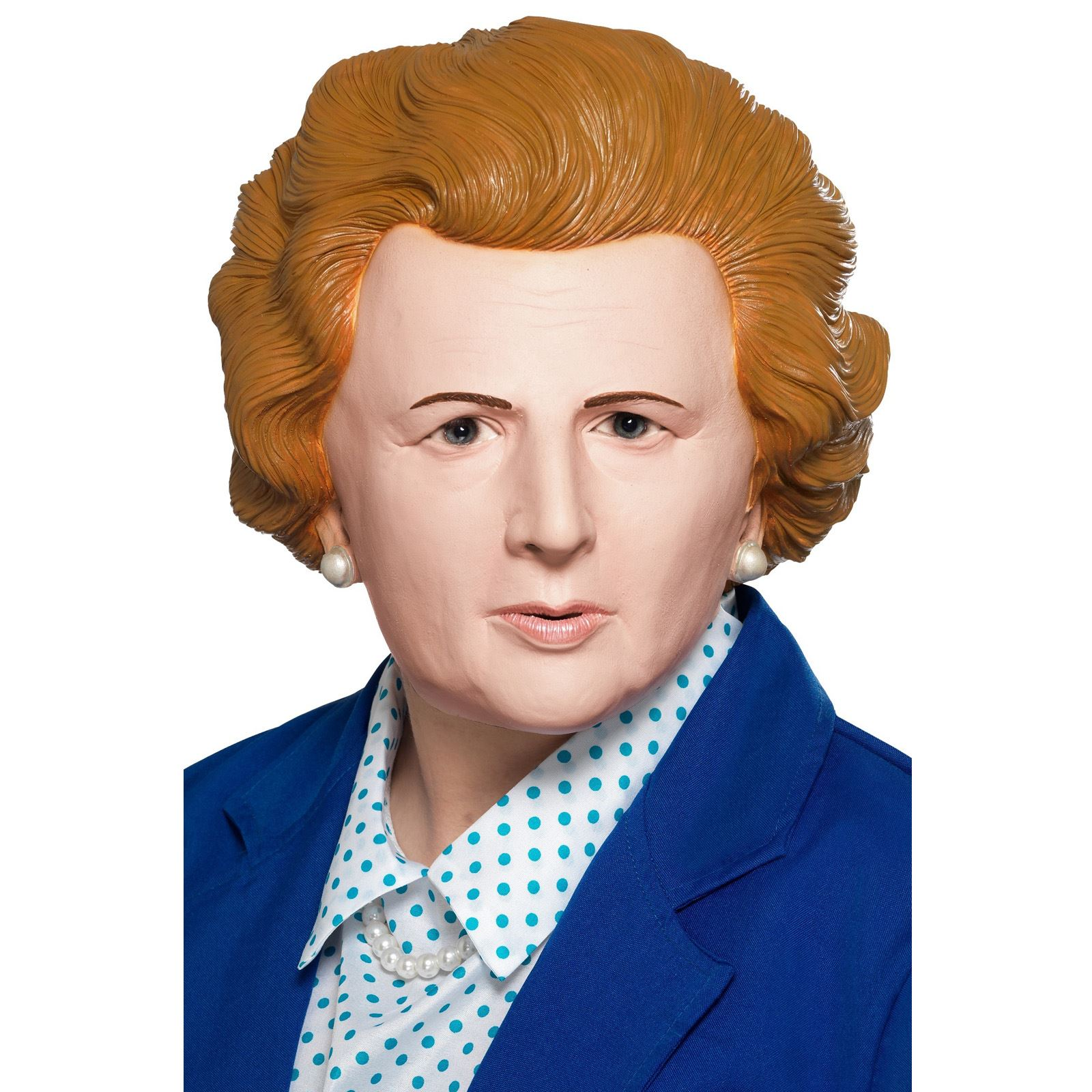 The Iron Lady Face Mask Rubber Realistic Margaret Prime Minister Comedy Politics