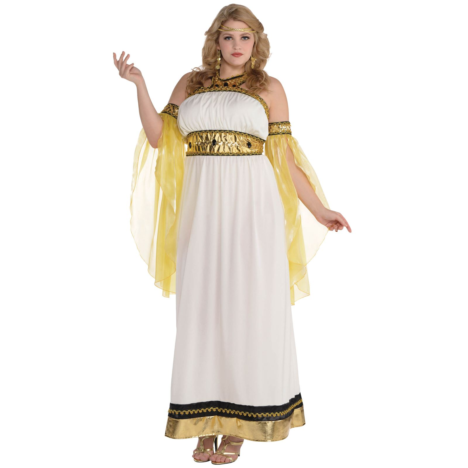 goddess fancy dress costume roman greek toga cleopatra ladies outfit