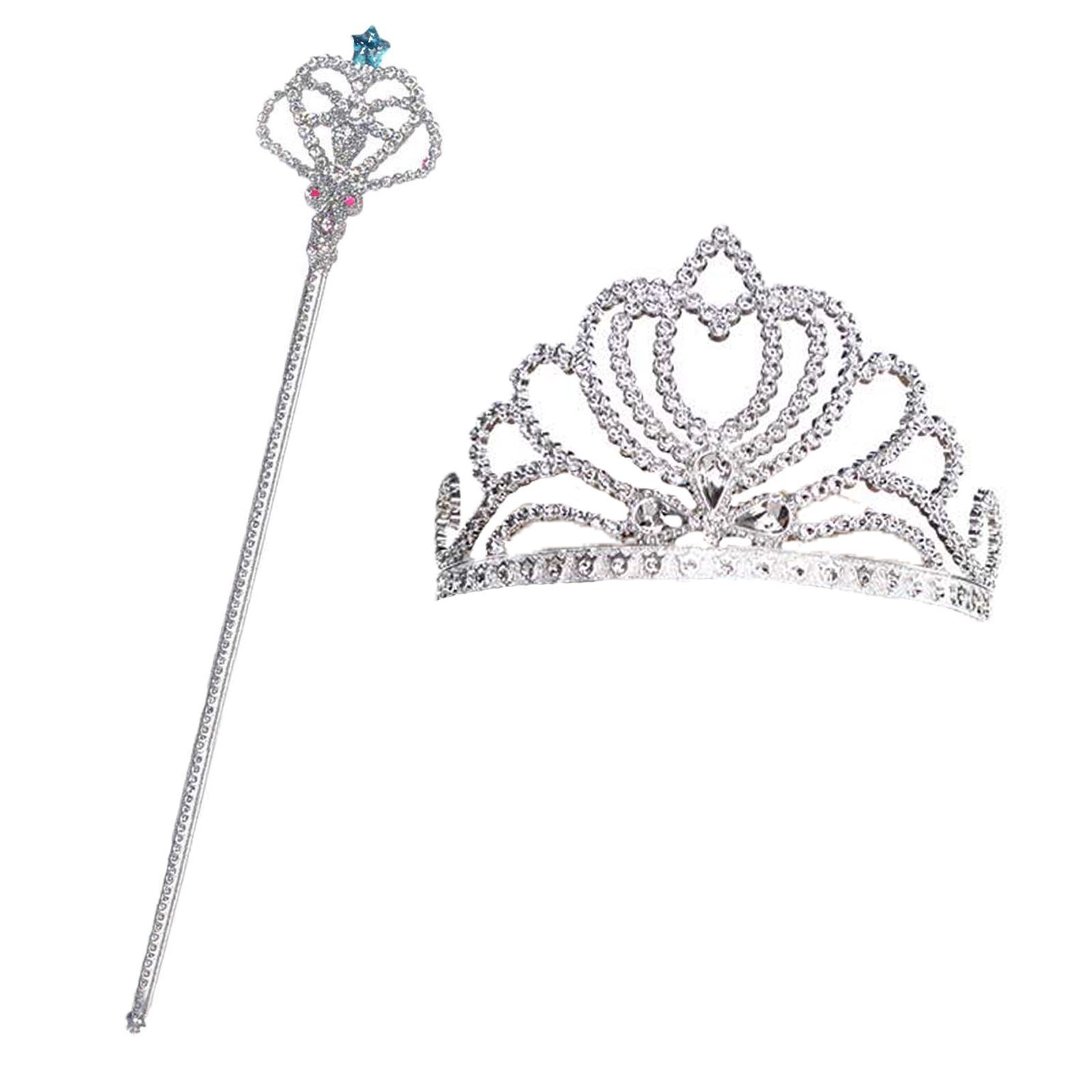 Pink Tiara and Wand Set Queen Princess Fairy Fancy Dressing Up Costume Accessory
