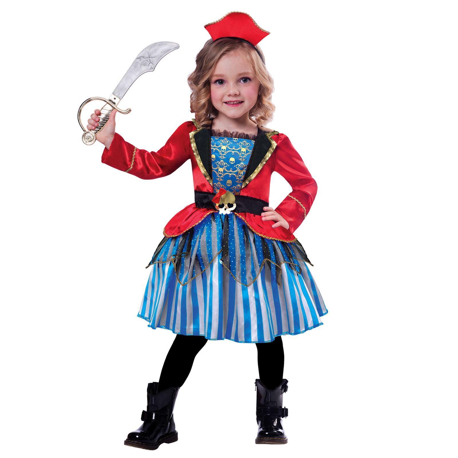 3ec0adae3cf Details about Kids Girls Toddlers Anchor Cutie Pirate Princess Fancy Dress  Book Week Costume