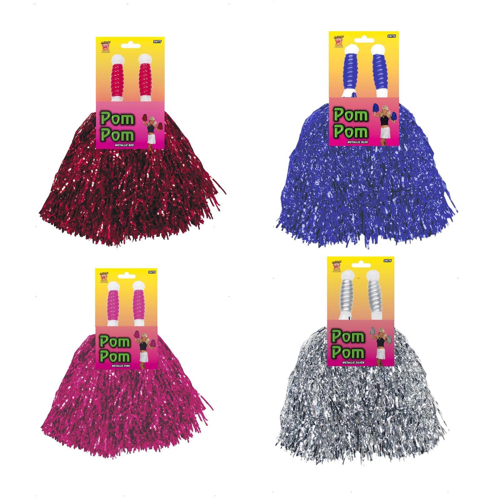 Pompoms Pom Poms Cheerleader Dance Wear Hen Party Fancy Dress Pack of 5 Pairs