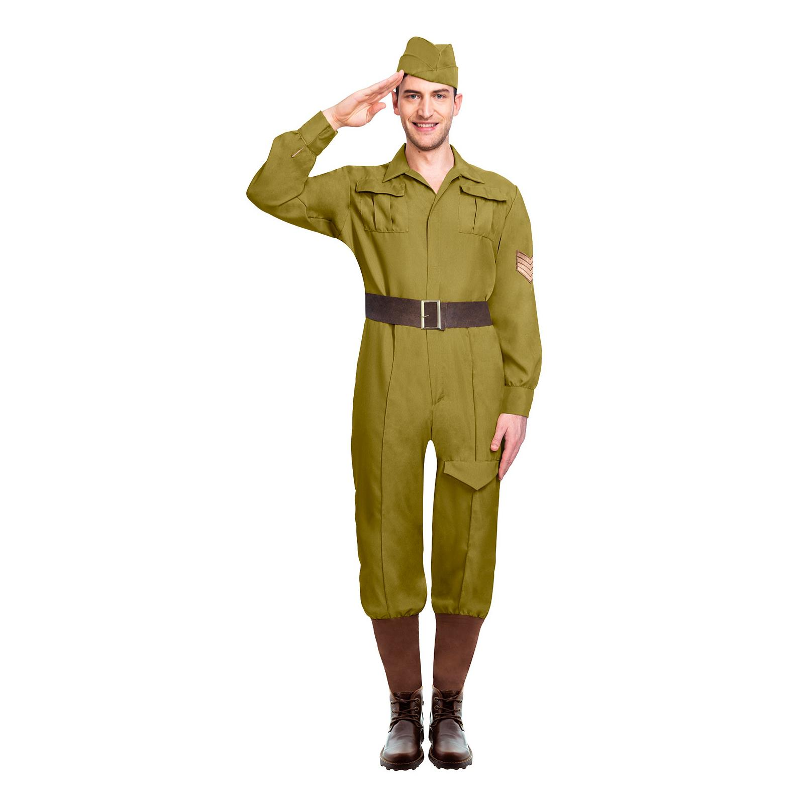 Adult Army Officer Side Cap Fancy Dress Accessory Military Ladies Hat Soldier