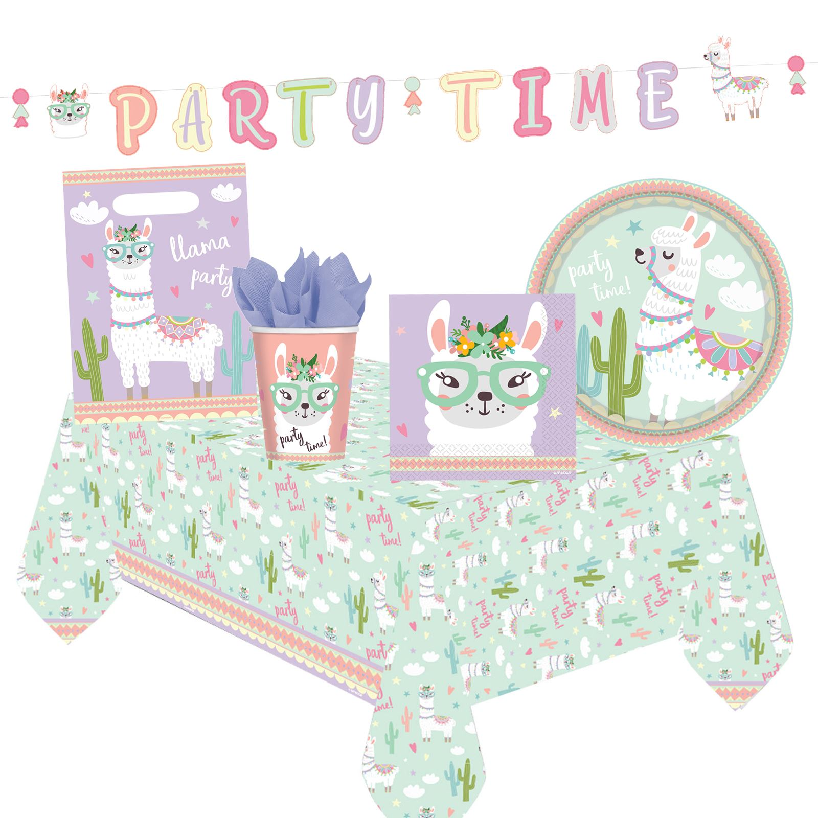 8ec847bad9314 Details about Llama Pastel Tableware Decorations Baby Shower Birthday Party  Banner Picnic Sets