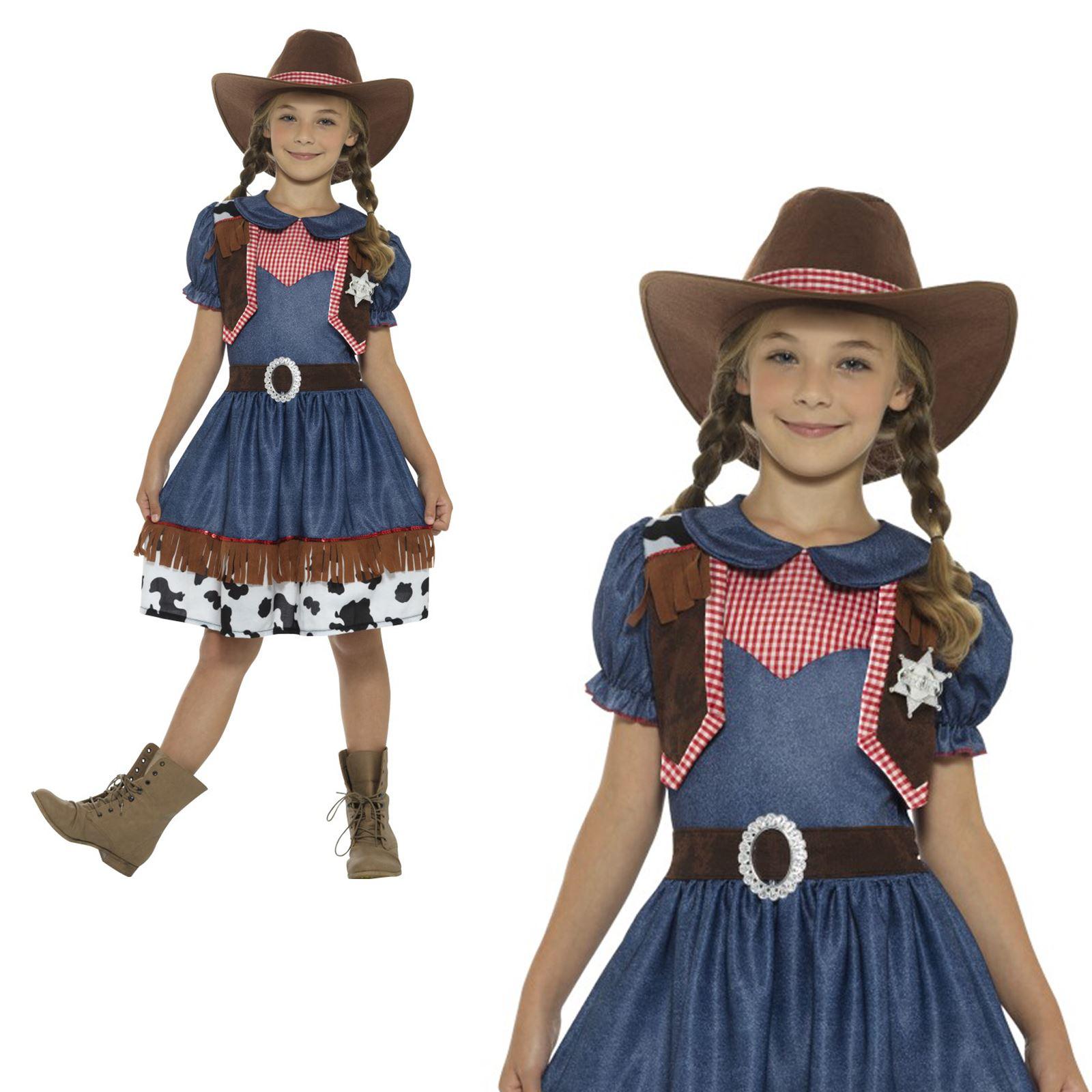 Kinder Jungen Büchertag Kostüm Texan Cowboy Kostüm /& Hut von Smiffys