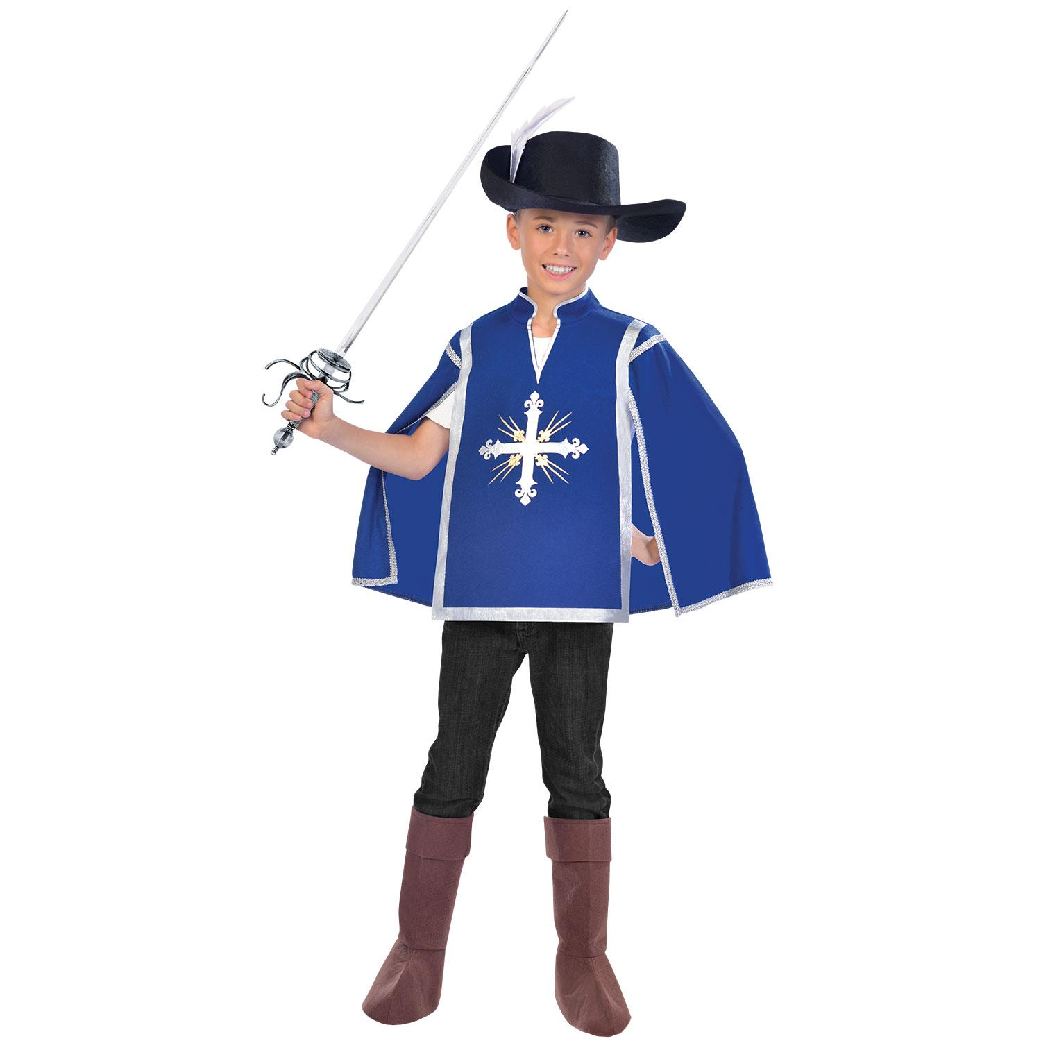 Girls Musketeer Fancy Dress Costume French Childrens Book Day Outfit