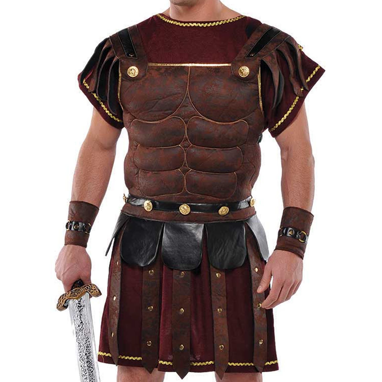 Adult-Mens-Ancient-Roman-Greek-Gladiator-Solider-Armour-Chest-Fancy-Dress-Outfit