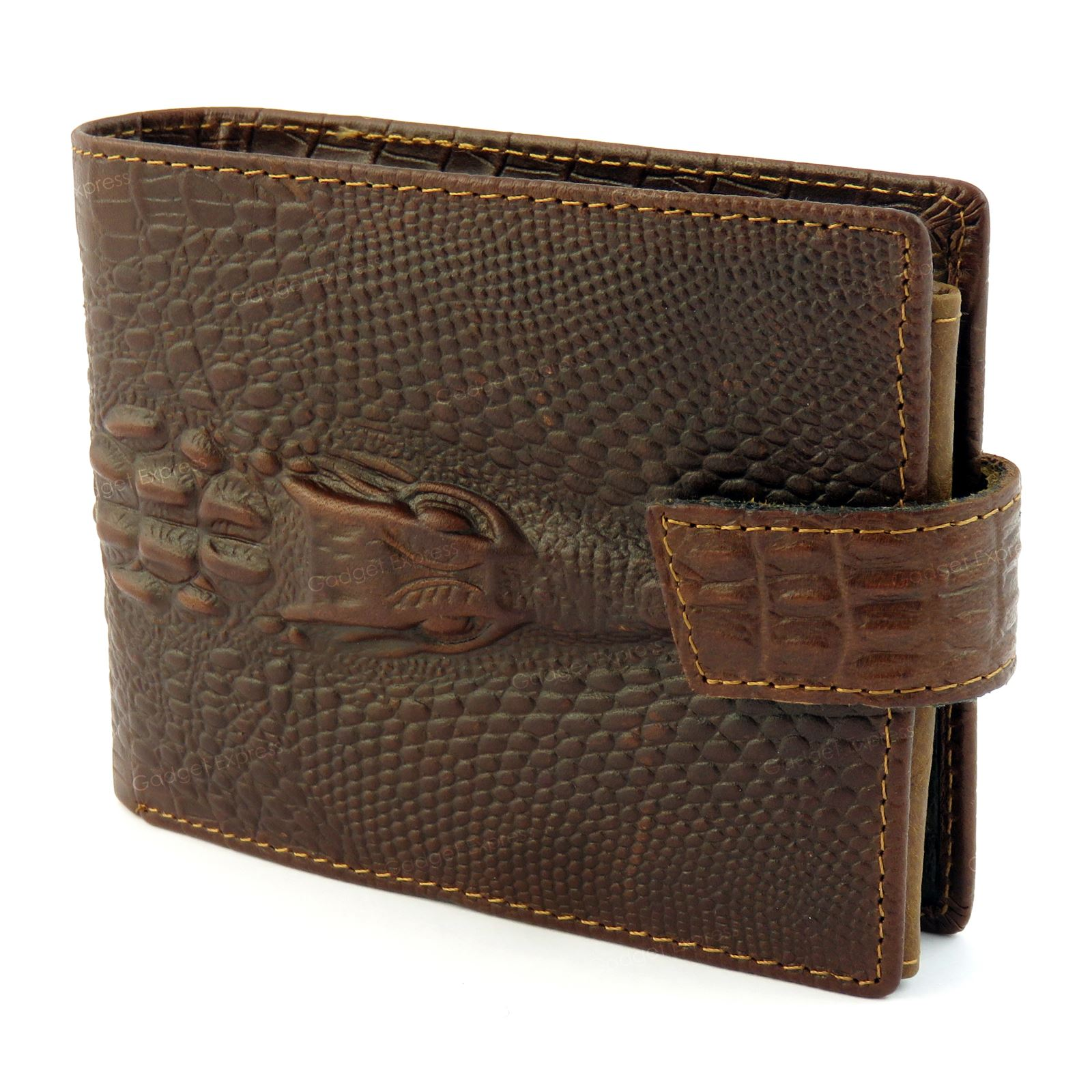mens dragon luxury quality leather wallet credit card holder purse brown new uk