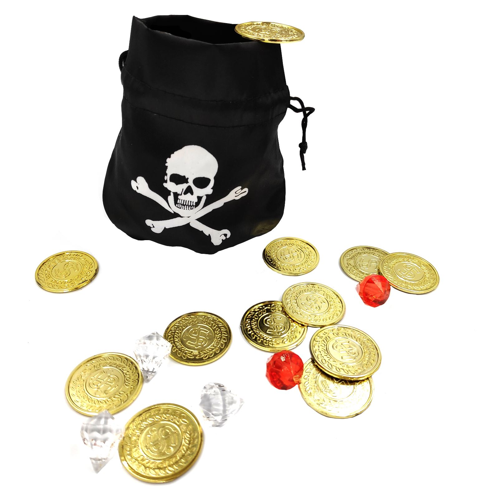 Pirate Money Pouch Loot Bag Coins /& Jewellery Pirates Treasure Fancy Dress