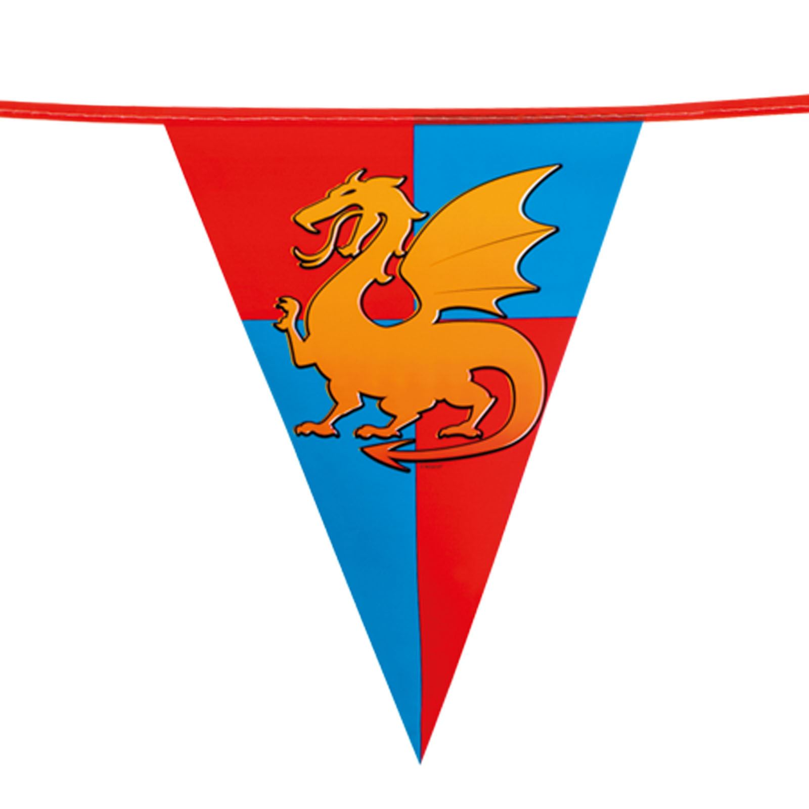 Knights Party Bunting Shields 6 metres Long