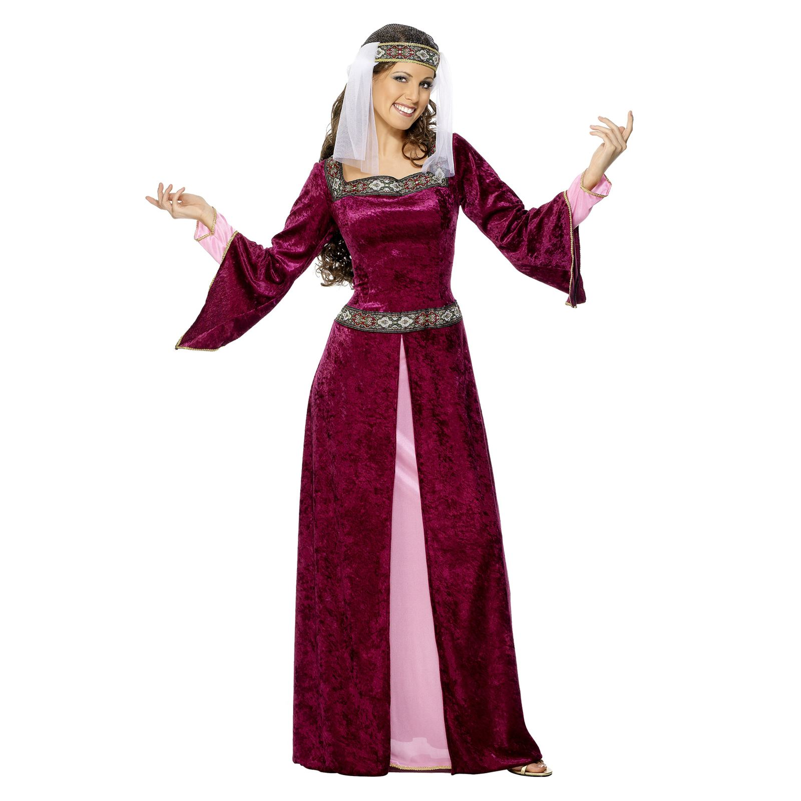 Ladies Medieval Thrones Maid Marion Long Gown Fancy Dress Historical ...