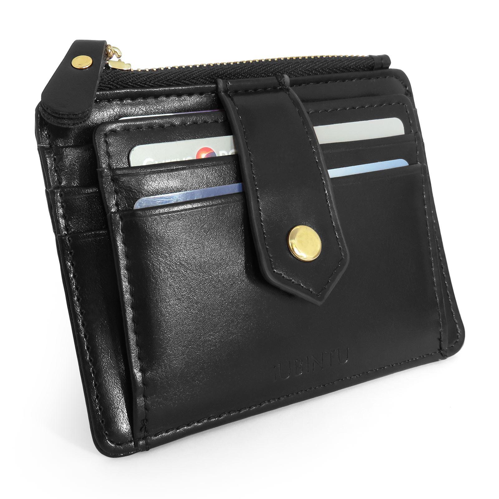 Mens Mini Leather Wallet Slim Small Id Credit Card Holder Coin Purse Zipper Uk Ebay