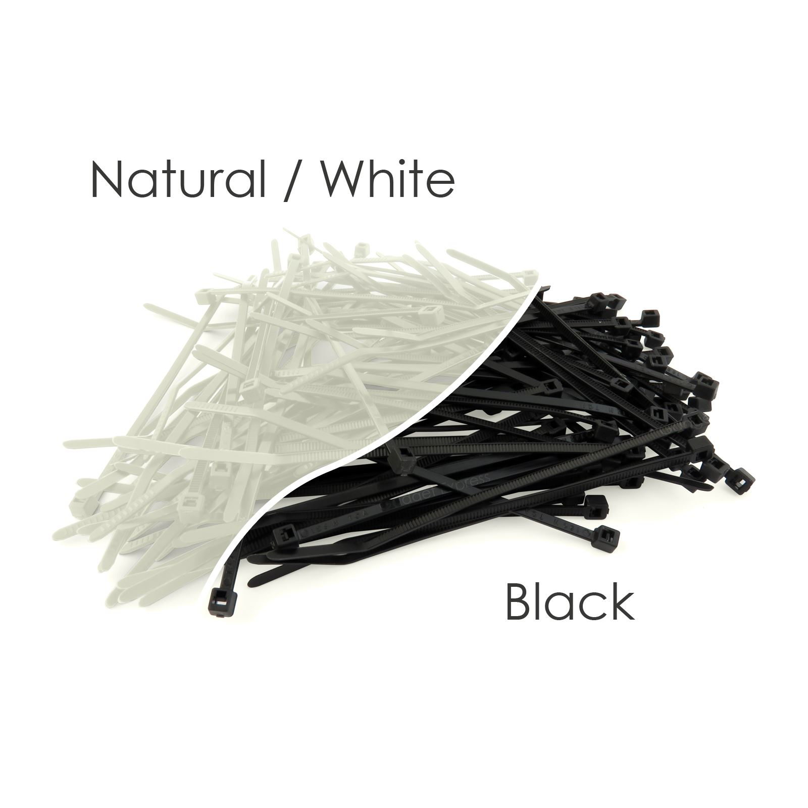 Various Assorted Cable Ties Black Natural Colours 100mm 200mm 300mm