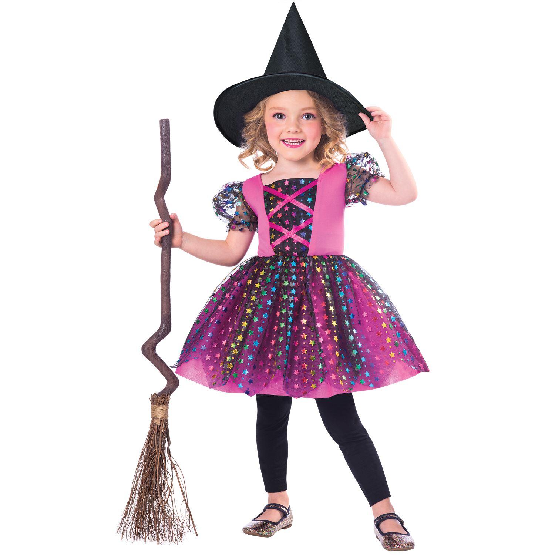 Girls Rainbow Witch Fancy Dress Costume Magic Harry Toddler Cute Stars Book Day Ebay