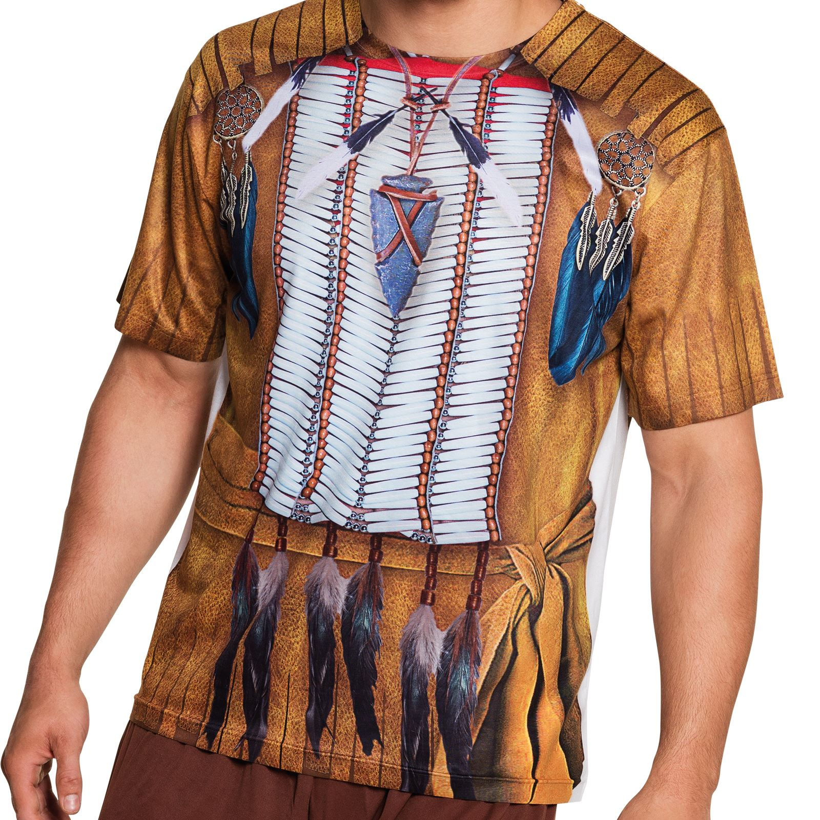 Photorealistic red indian pocahontas native american t for Costume t shirts online