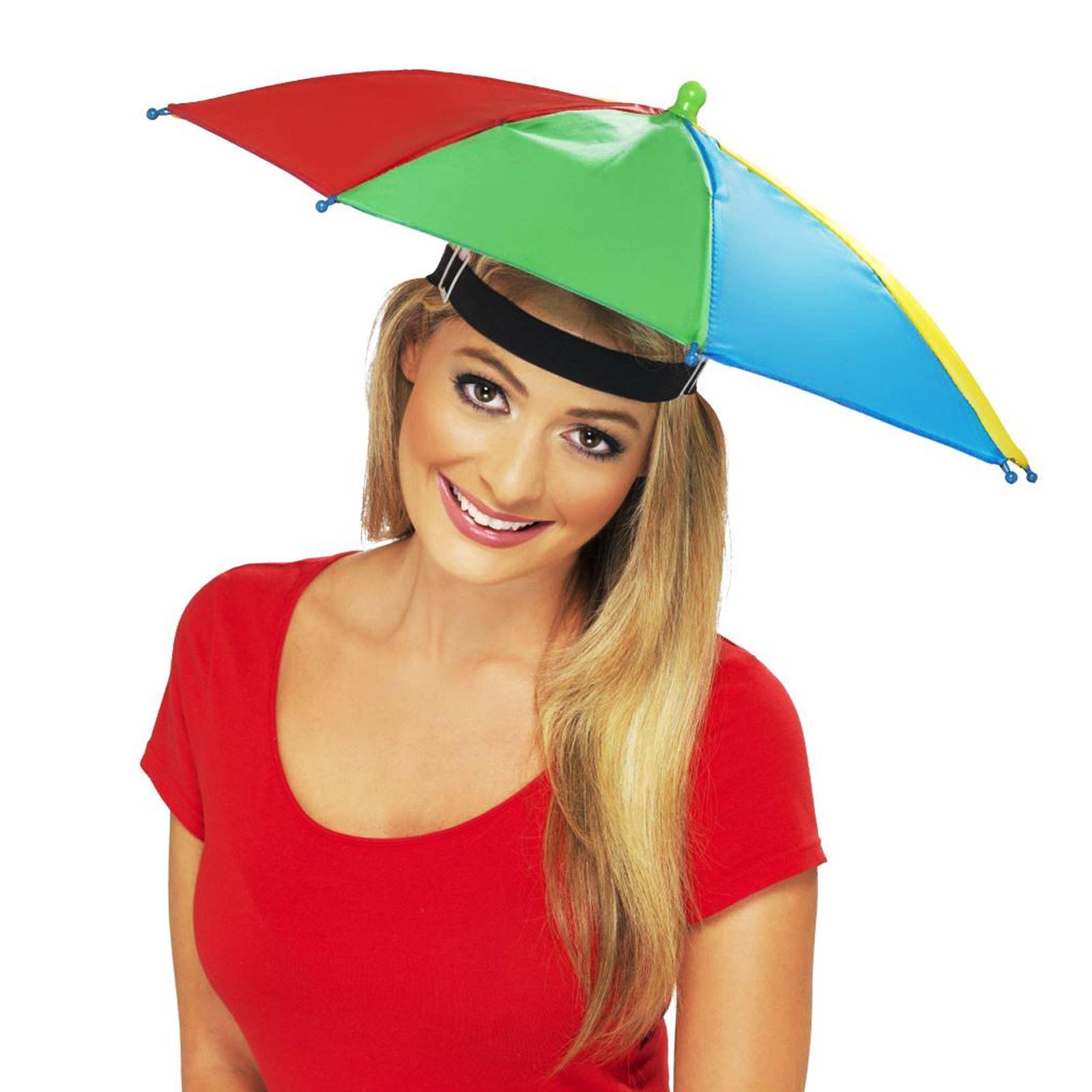 e2f91ffbd99b1 Adults Novelty Umbrella Hat Waterproof Rainbow Fishing Brolly Fancy ...