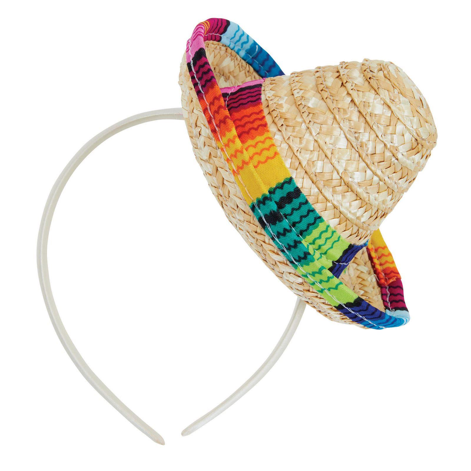 Sombrero Mexicano Paja Mini Diadema Día de los Muertos Fiesta Adulto ... a5158ecae27